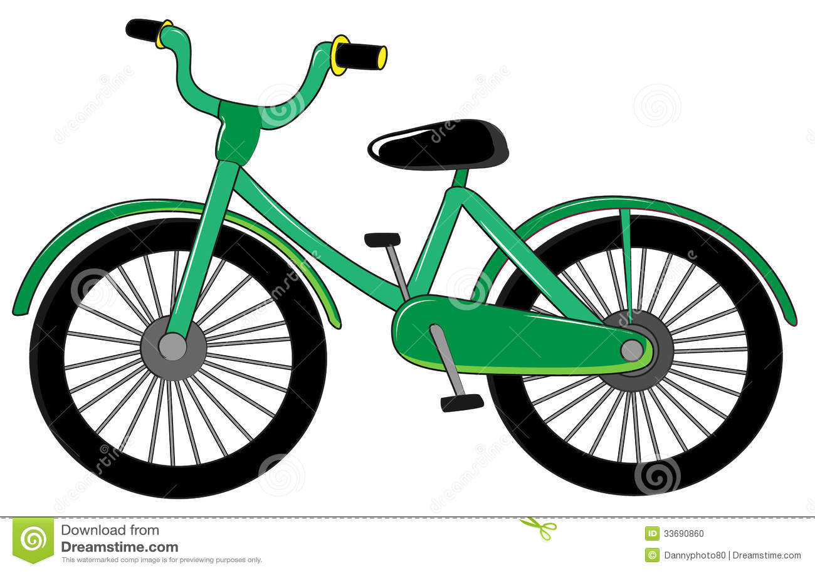 kleines gr nes fahrrad stock abbildung illustration von. Black Bedroom Furniture Sets. Home Design Ideas