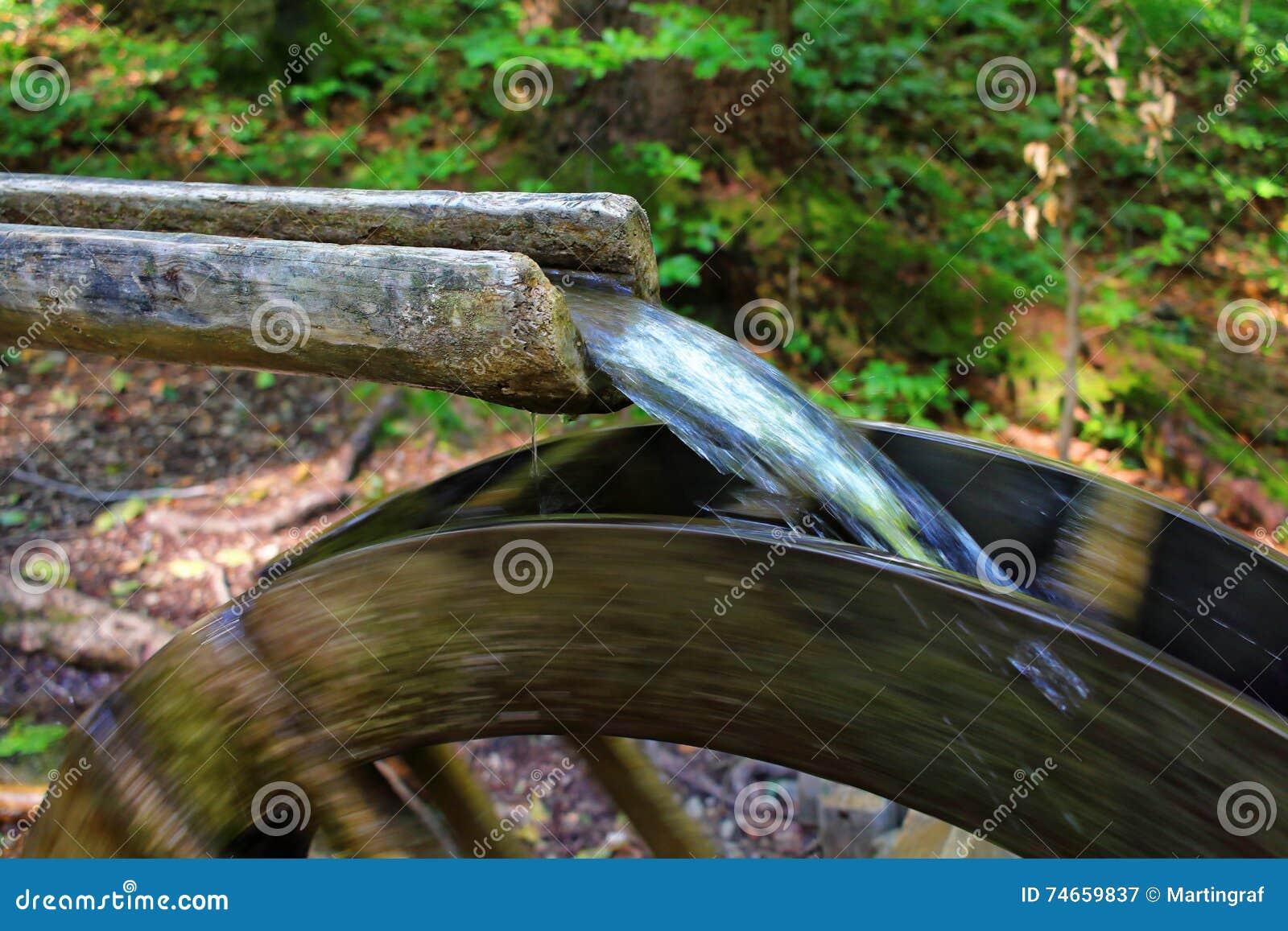 Kleines rustikales watermill, Energie produzierend