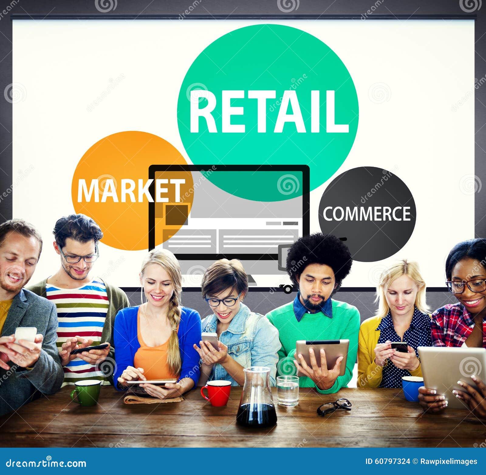 Kleinhandels de Aankoopconcept van de Handelsmarkt Van de consument