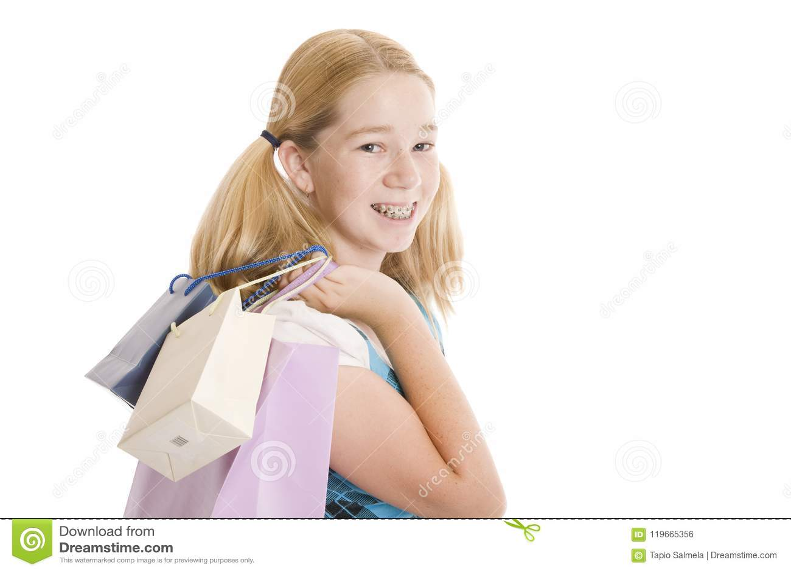 Kleinhandels Winkelende Tiener