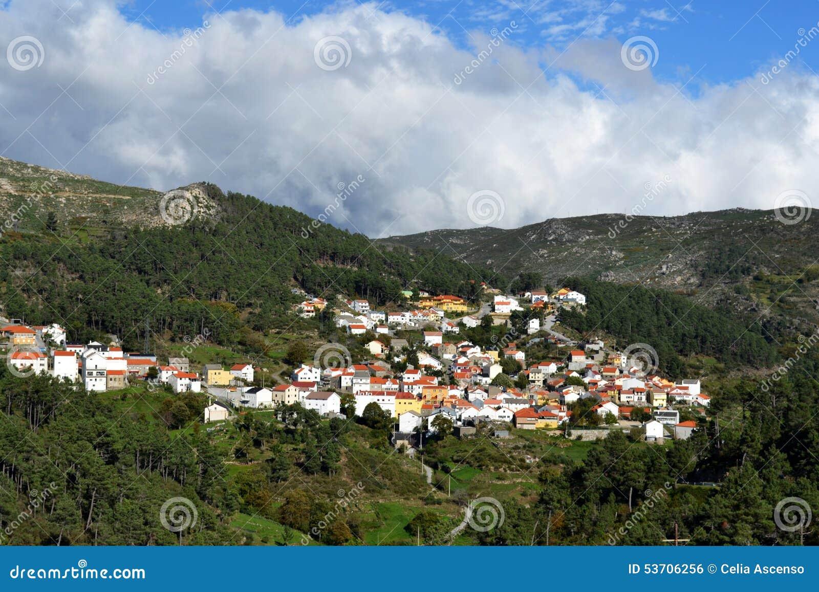 Kleinstadt auf einen Berg