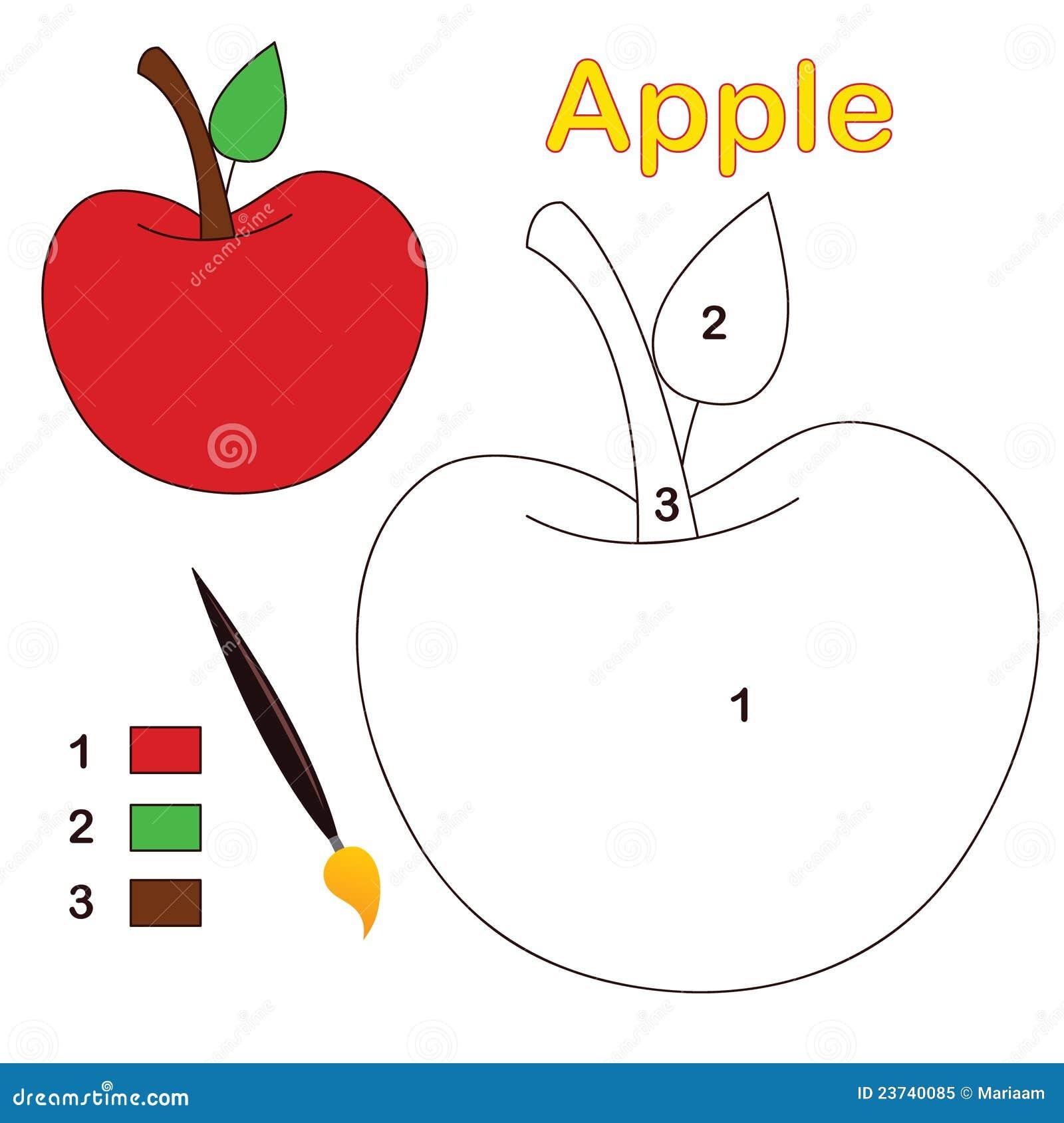 Kleur door aantal: appel