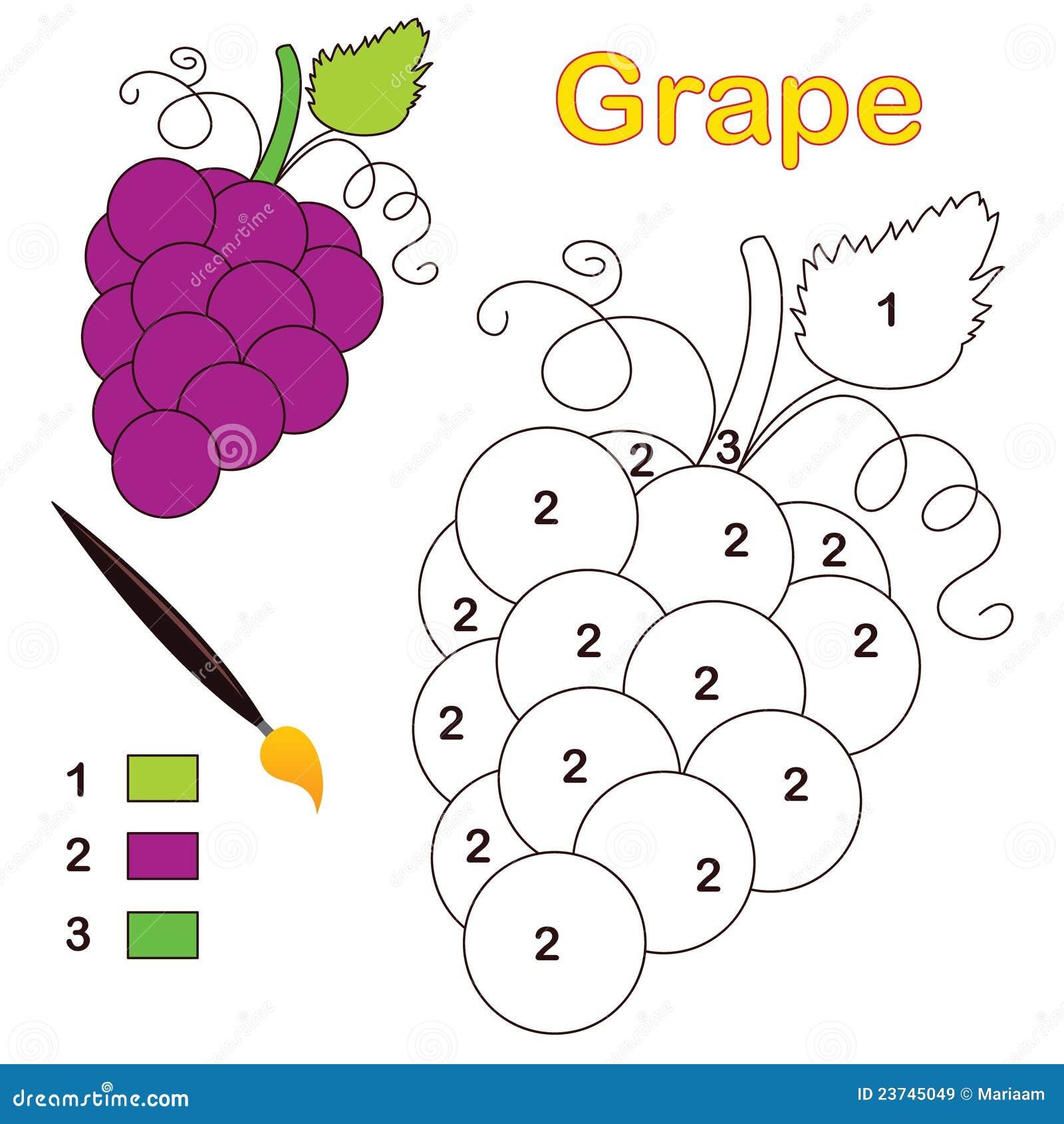 Kleur door aantal: druif