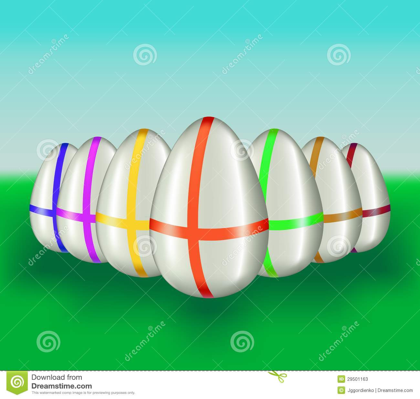 Kleur Pasen-eieren. Vector illustratie.