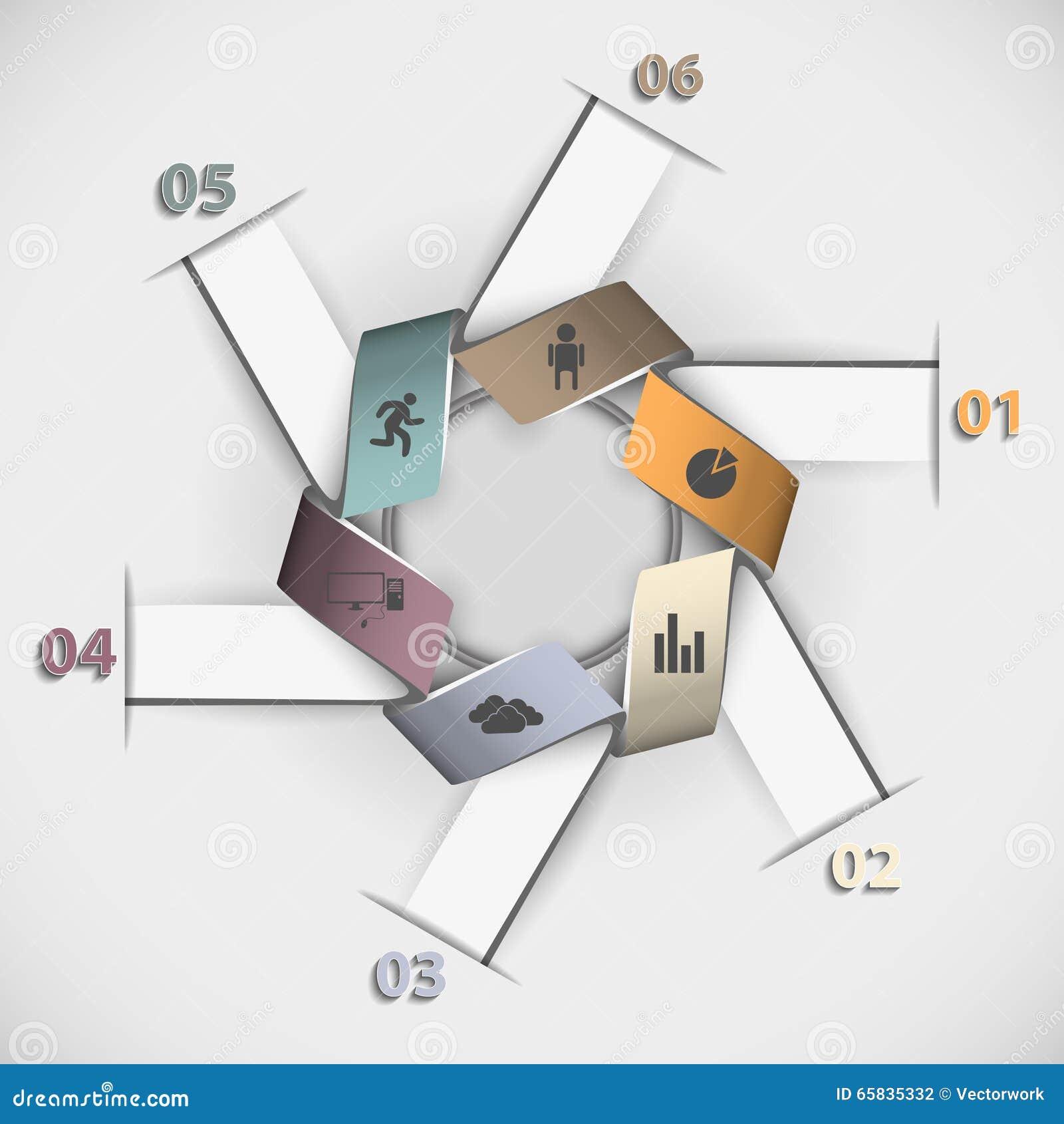 Kleuren bedrijfsinfographicsmalplaatje voor uw presentatie
