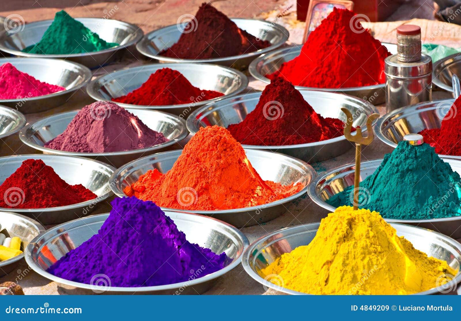Kleuren, India.