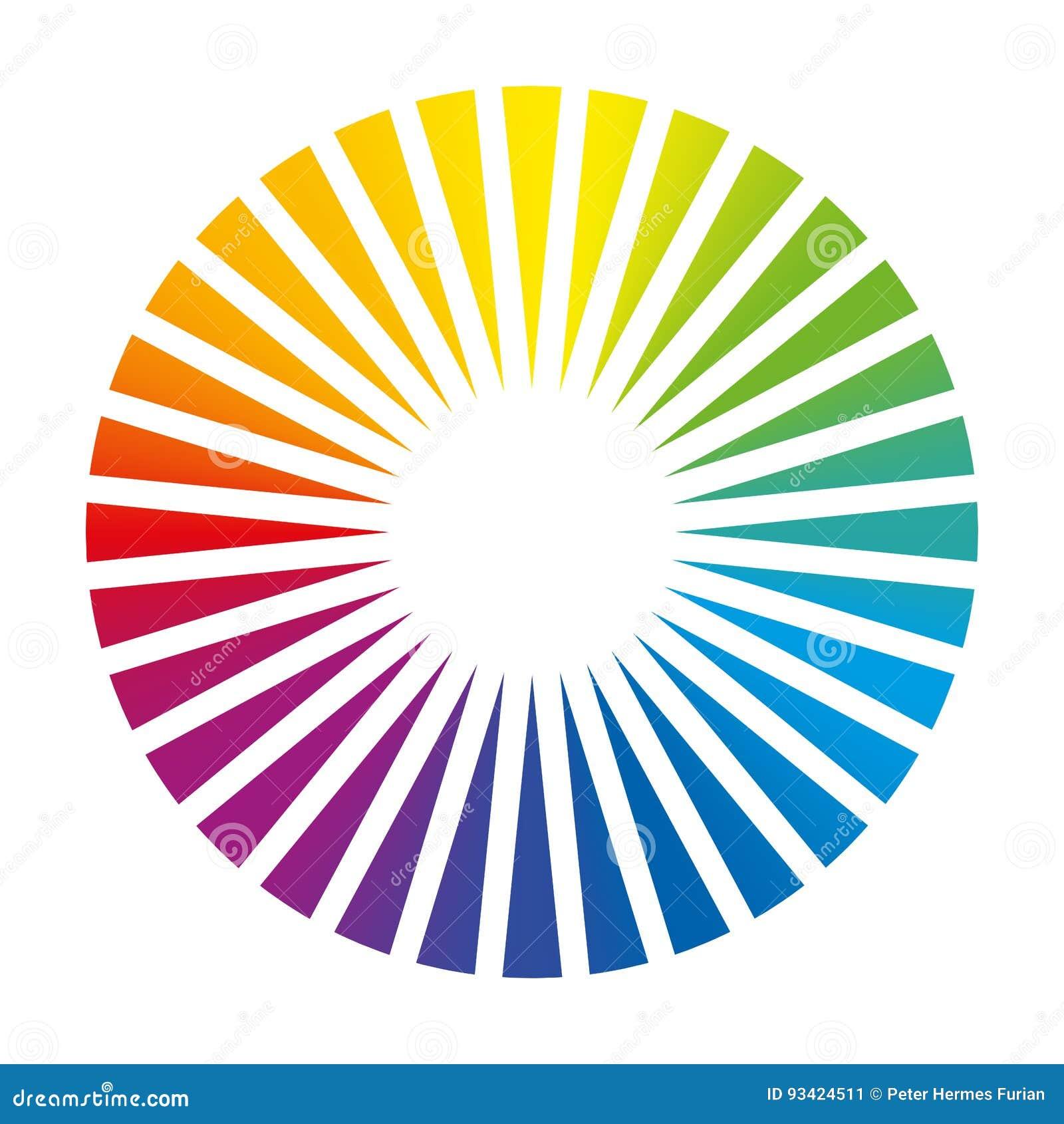 Kleurencirkel om het Dek van de Kleurenventilator