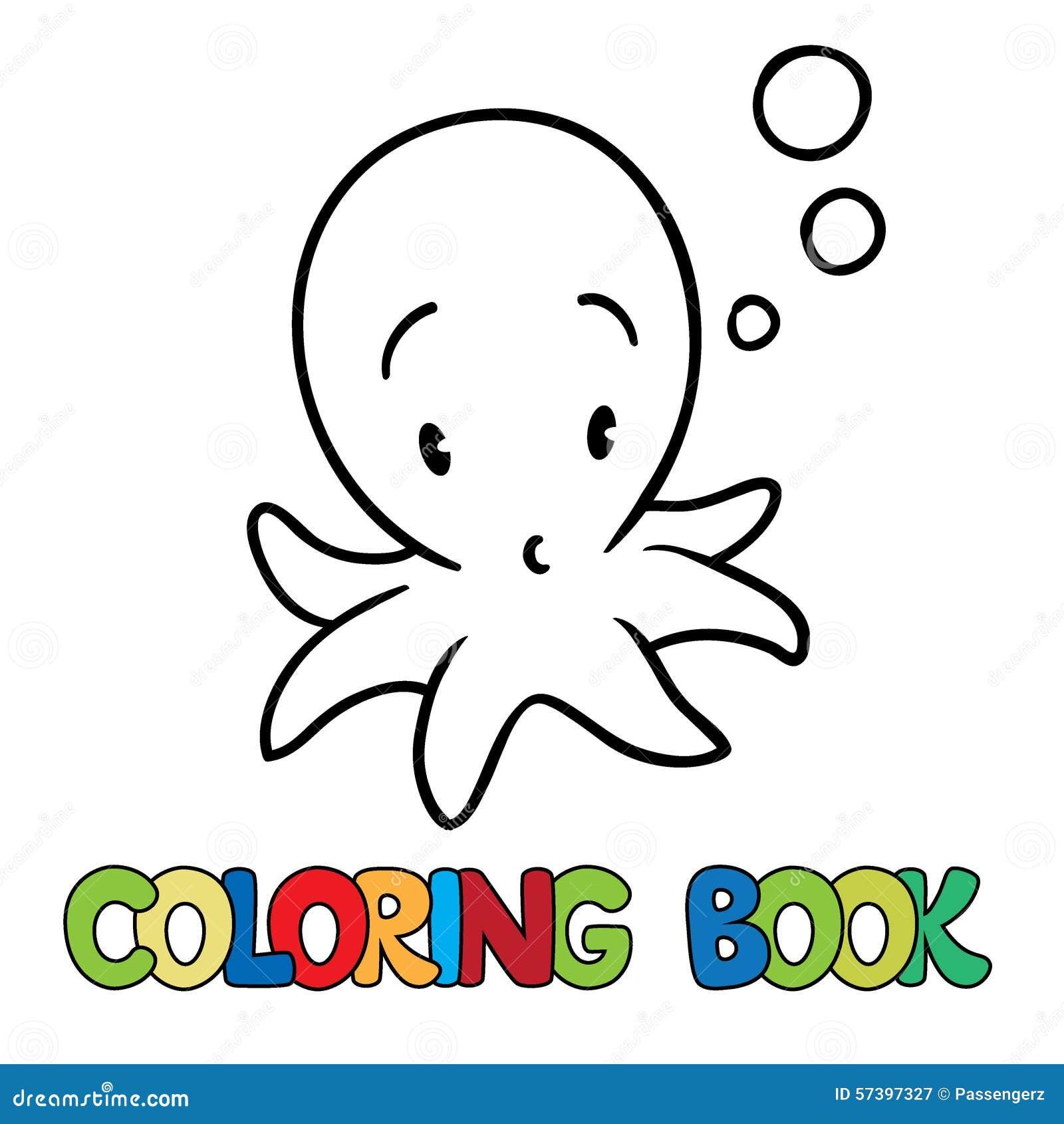 Kleurend boek van grappige octopus