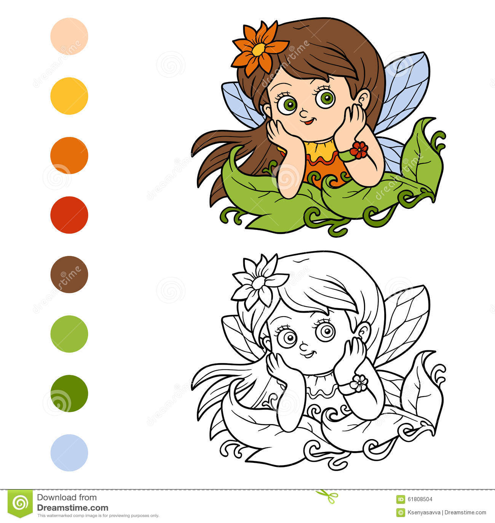 Kleurend boek voor kinderen: weinig fee
