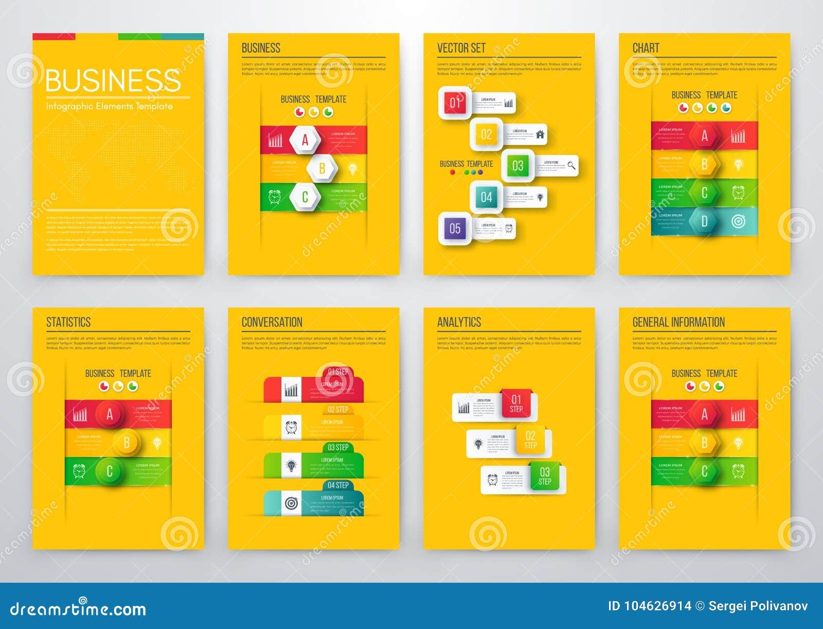 Download Kleurenelementen Voor Infographics Vector Illustratie - Illustratie bestaande uit element, grafiek: 104626914