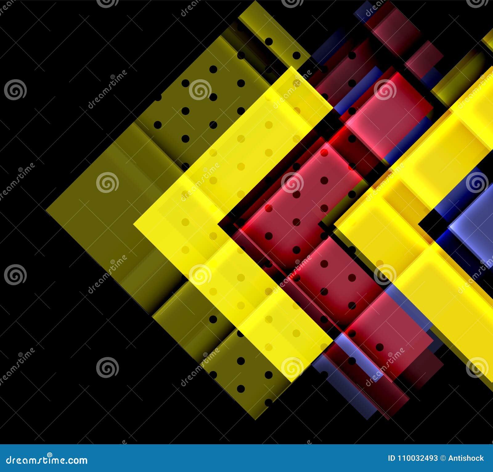 Kleurenpijlen op zwarte achtergrond