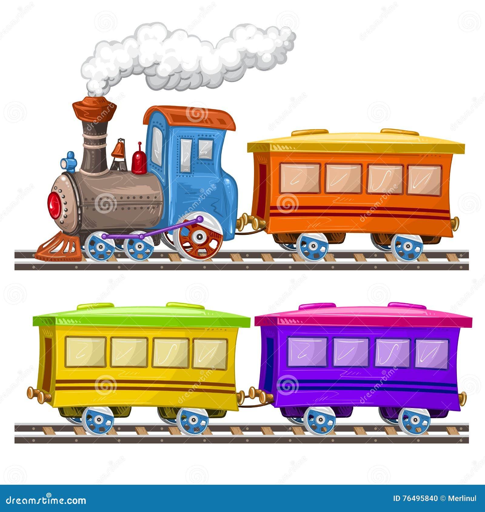 Kleurentreinen en wagens