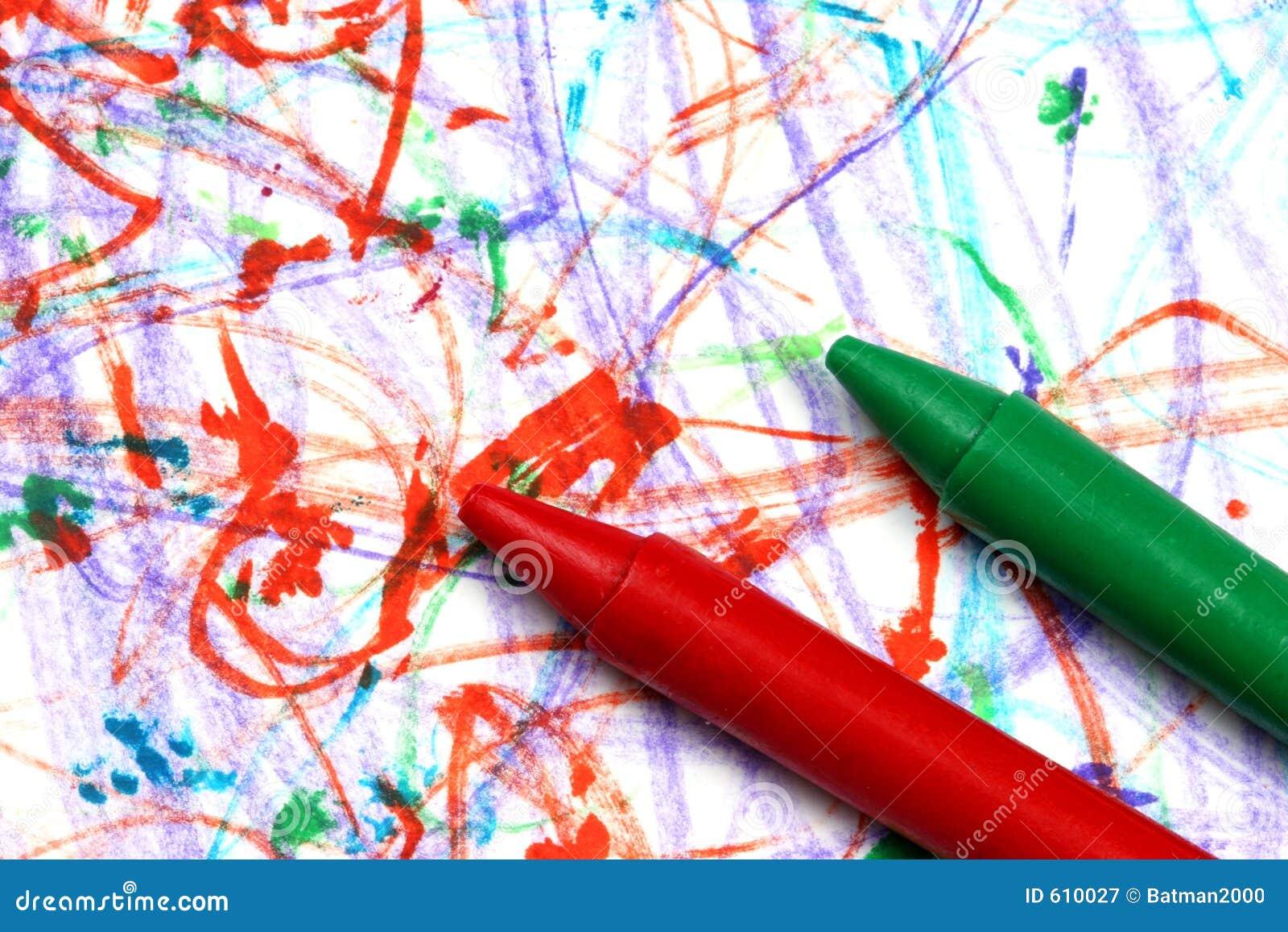 Kleurpotloden op papier