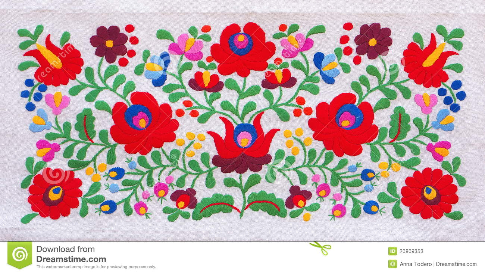 Kleurrijk borduurwerk