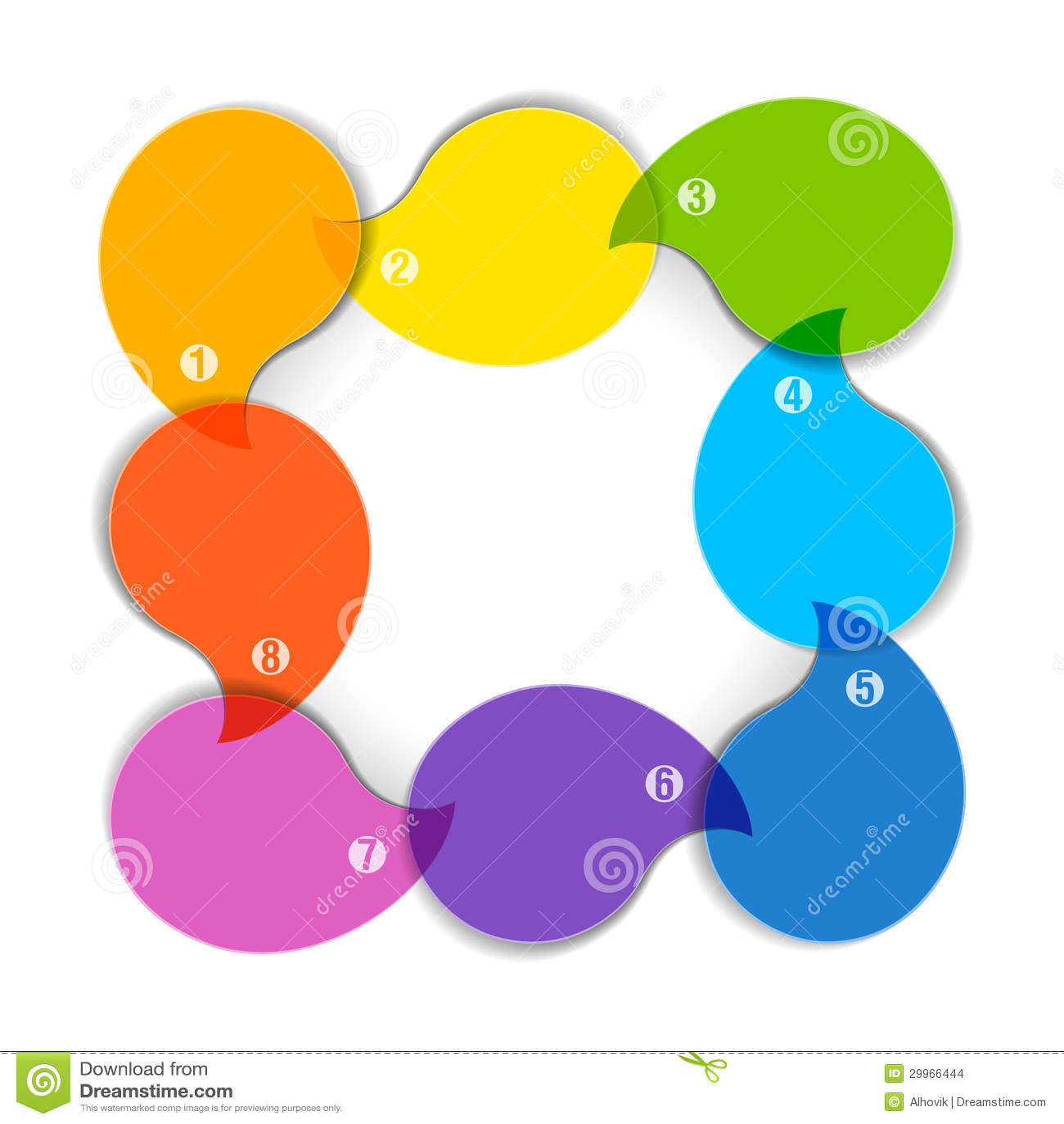Kleurrijk Diagram Met Acht Lege Dozen Vector Illustratie