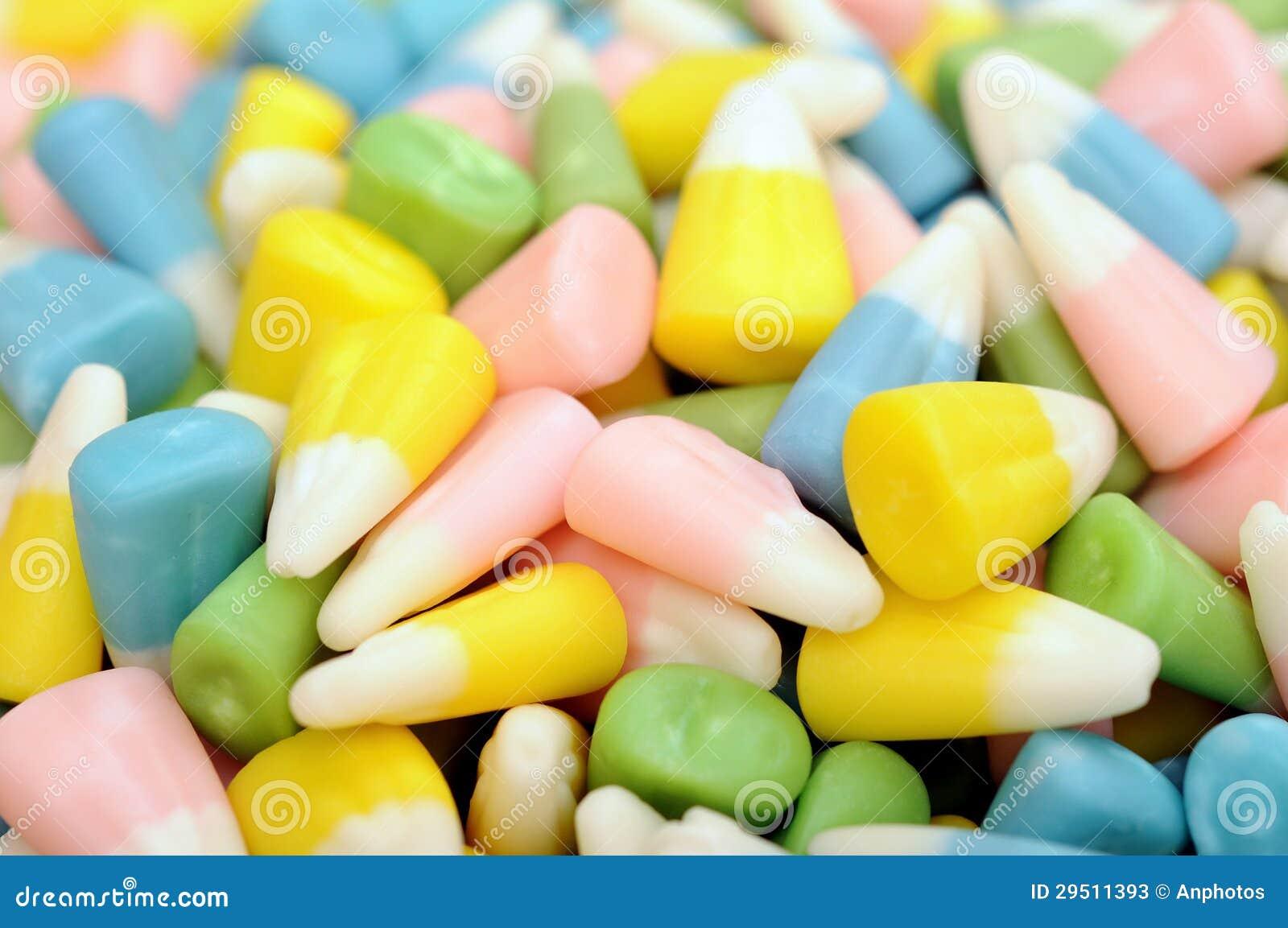 Kleurrijk graansuikergoed