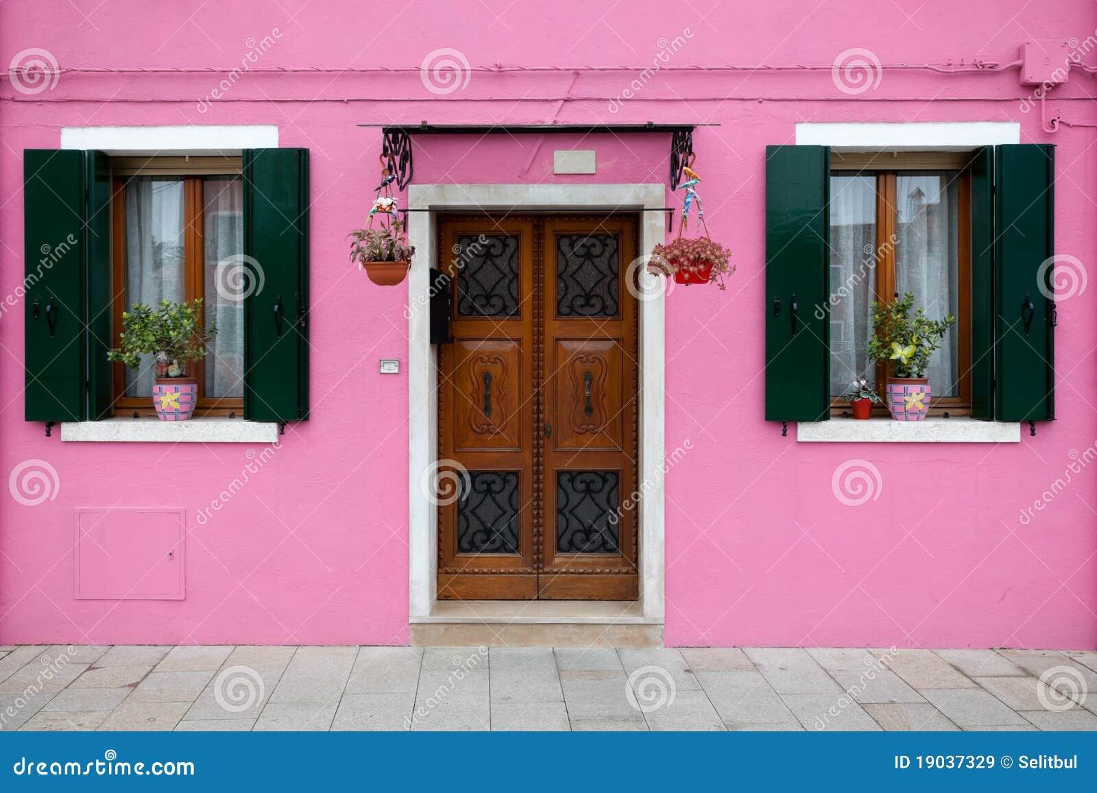 Kleurrijk huis in Burano eiland, Venetië, Italië