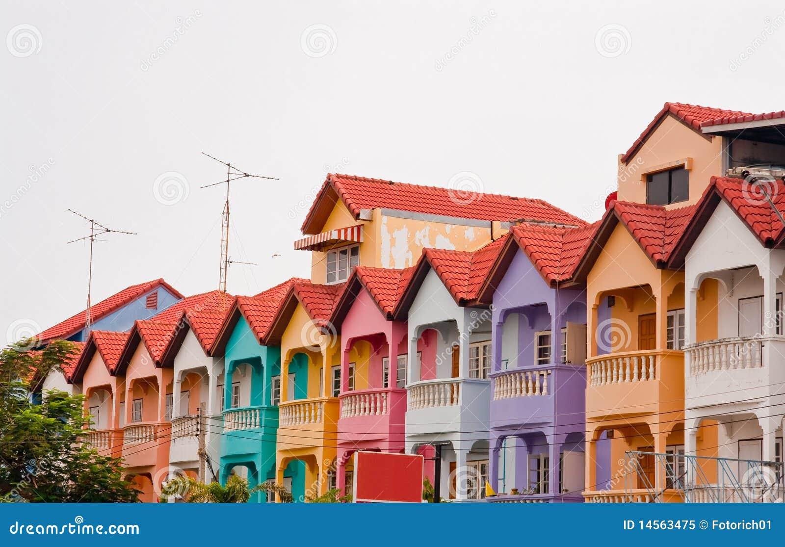 Kleurrijk huis in de stad royalty vrije stock foto afbeelding 14563475 - Amenager een voorgerecht van het huis ...