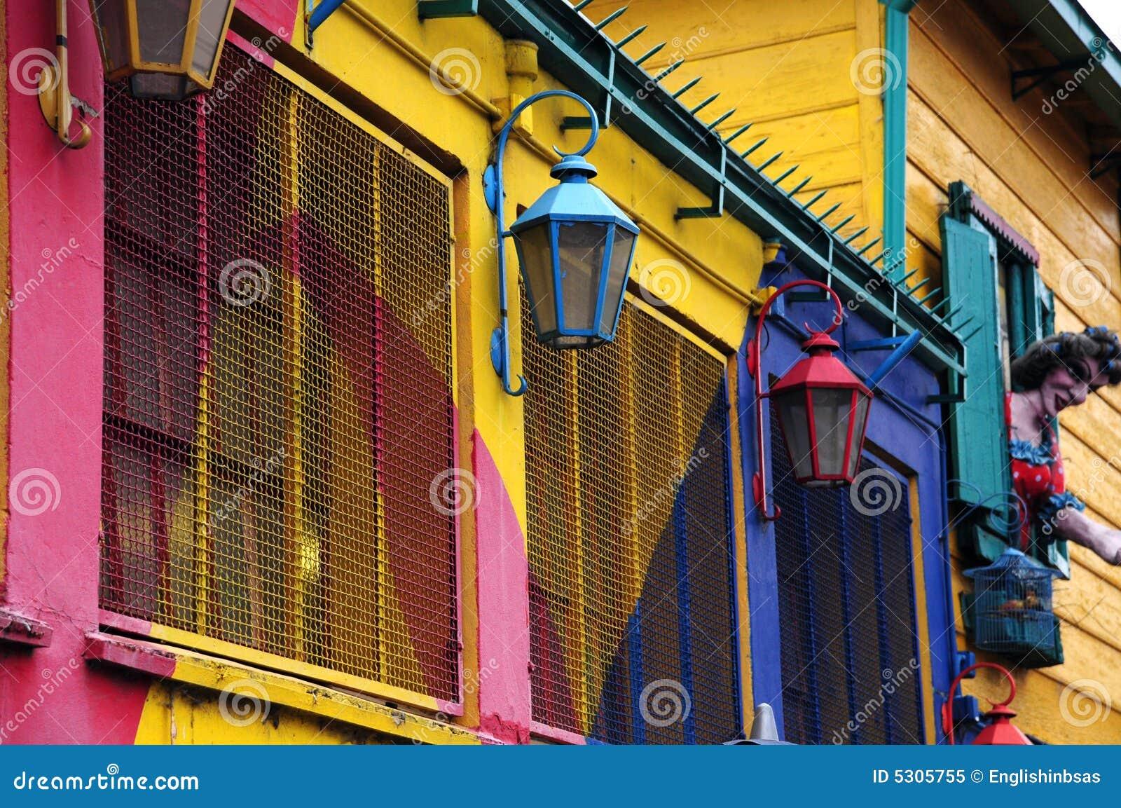 Kleurrijk huis van caminito