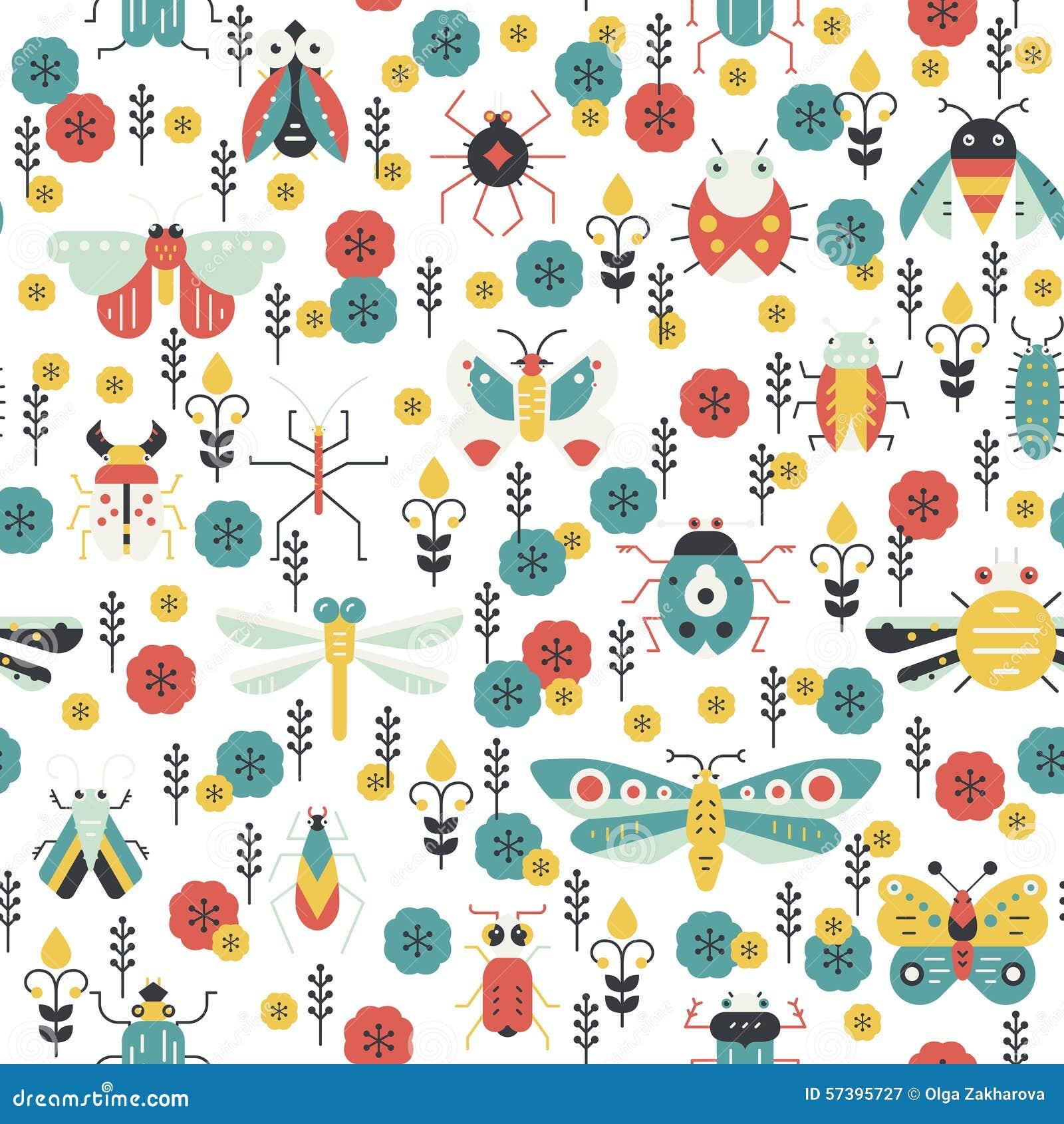 Kleurrijk Insectenpatroon