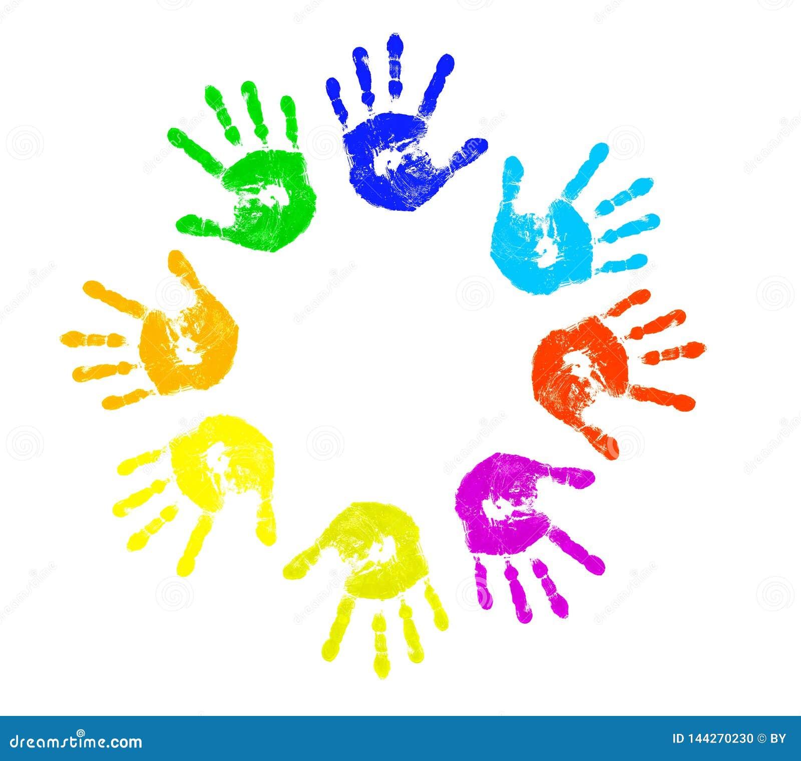 Kleurrijk Kind handprints