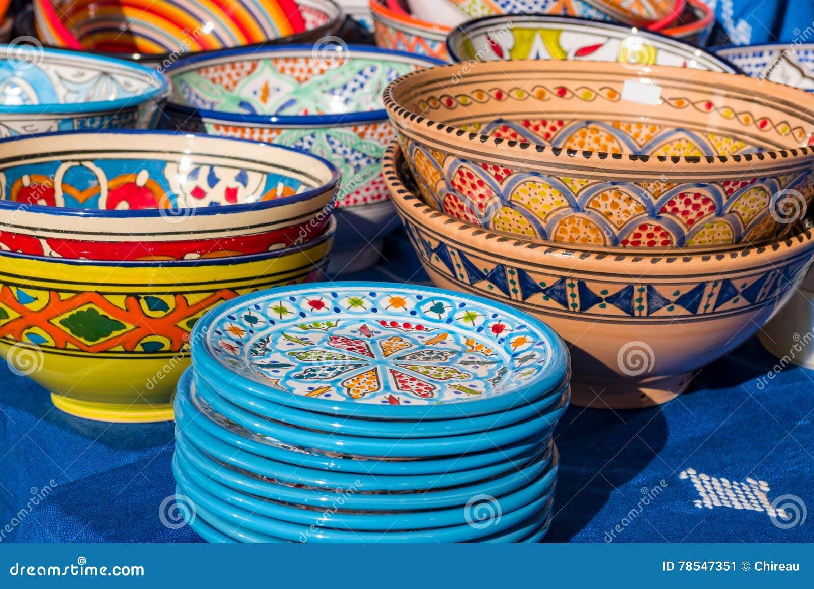 Kleurrijk met de hand gemaakt ceramisch aardewerk