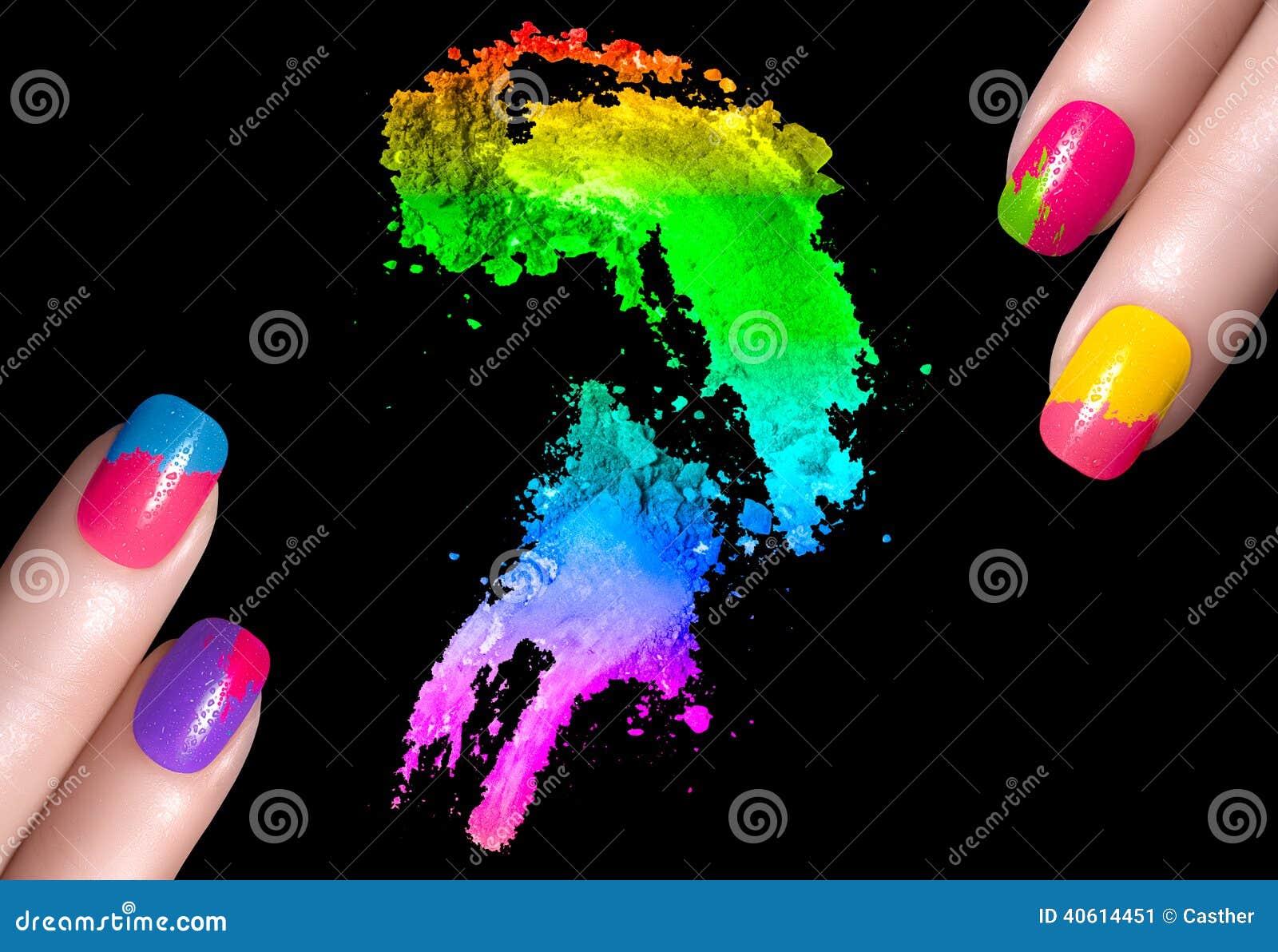 Kleurrijk Nagellak en Minerale Oogschaduw