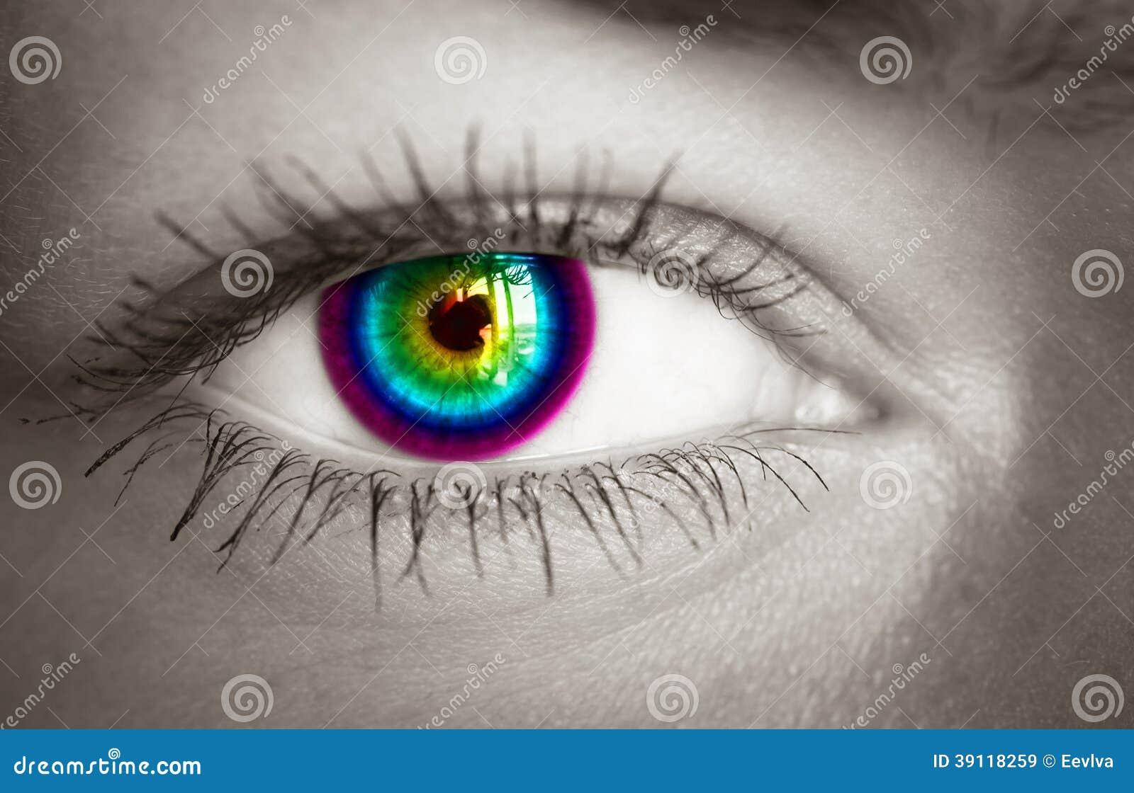 Kleurrijk oog.