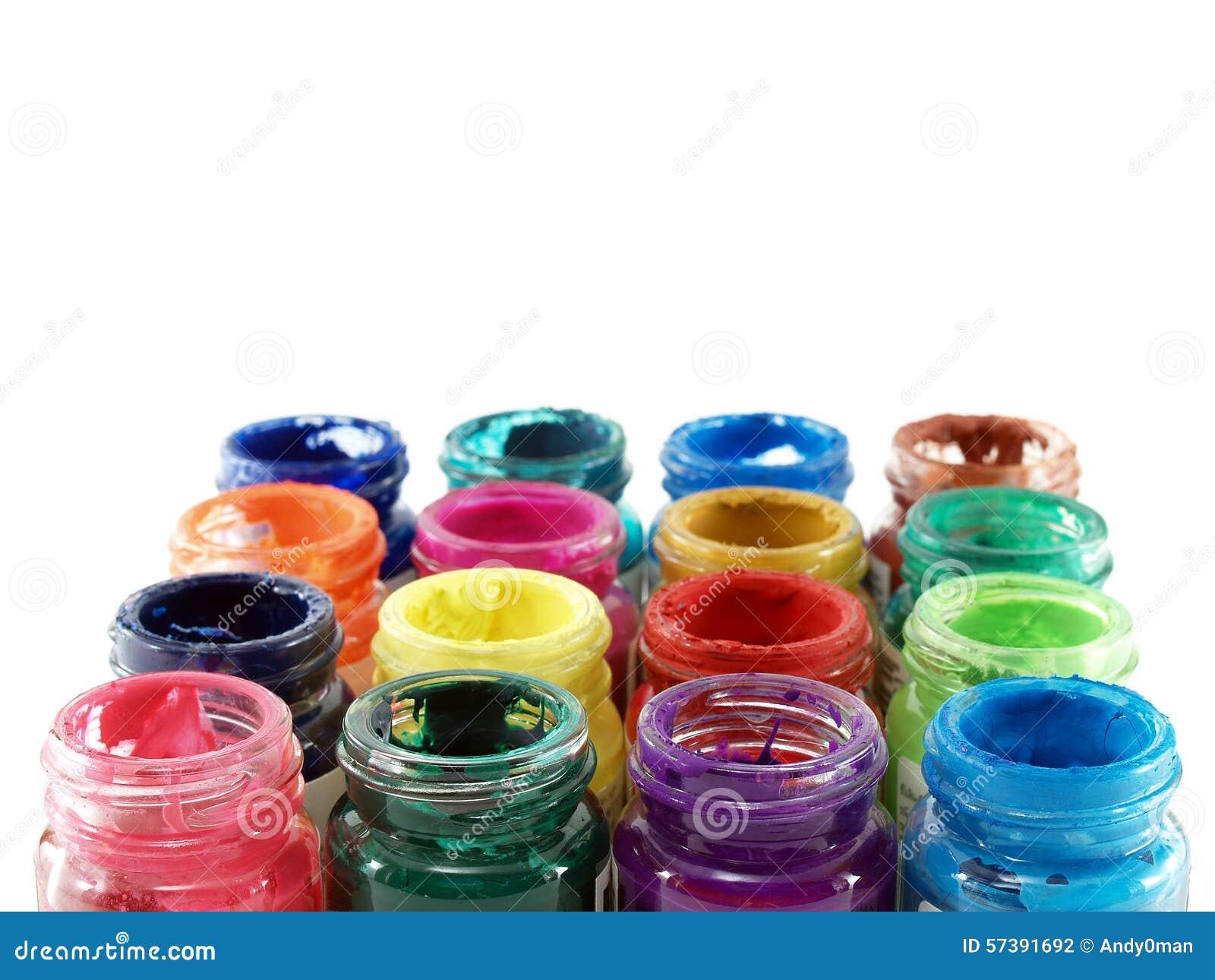 Kleurrijk van flessenplakkaatverf