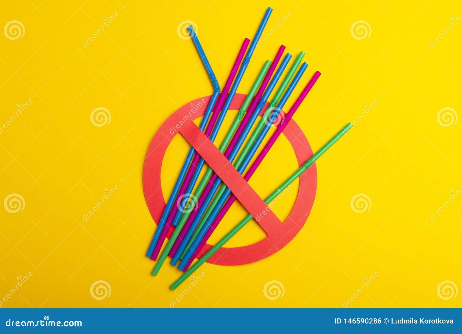 Kleurrijk van plastic stro
