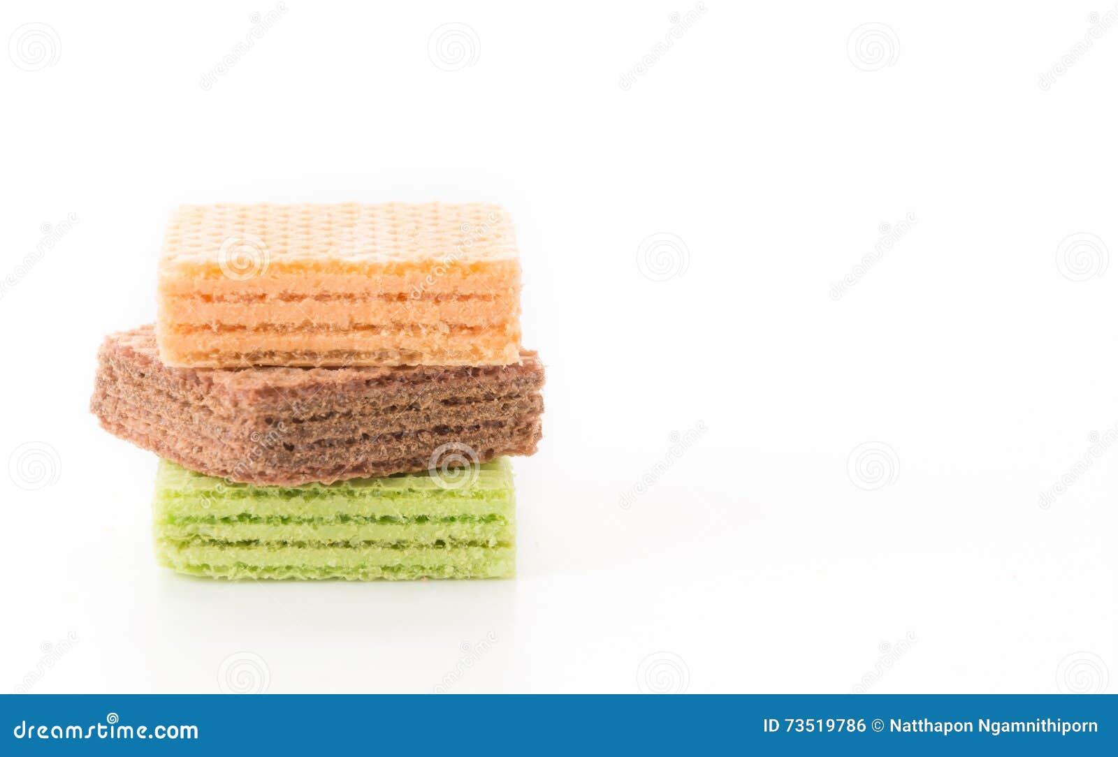 Kleurrijk wafeltje