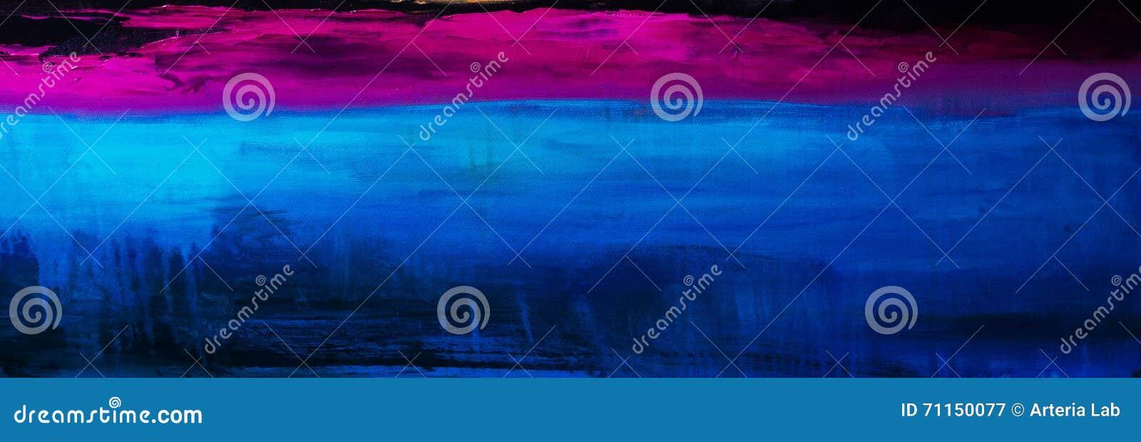 Kleurrijke Abstracte olieverfschilderijachtergrond Olie op canvastextuur
