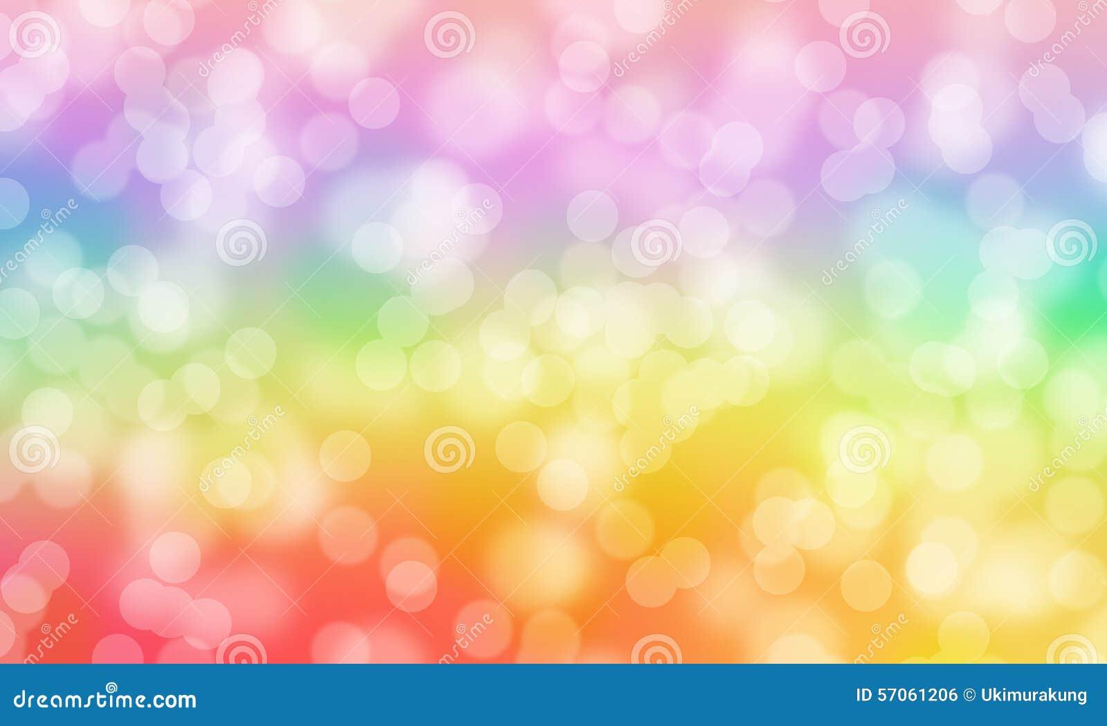 Kleurrijke achtergrond van de Bokeh de abstracte regenboog