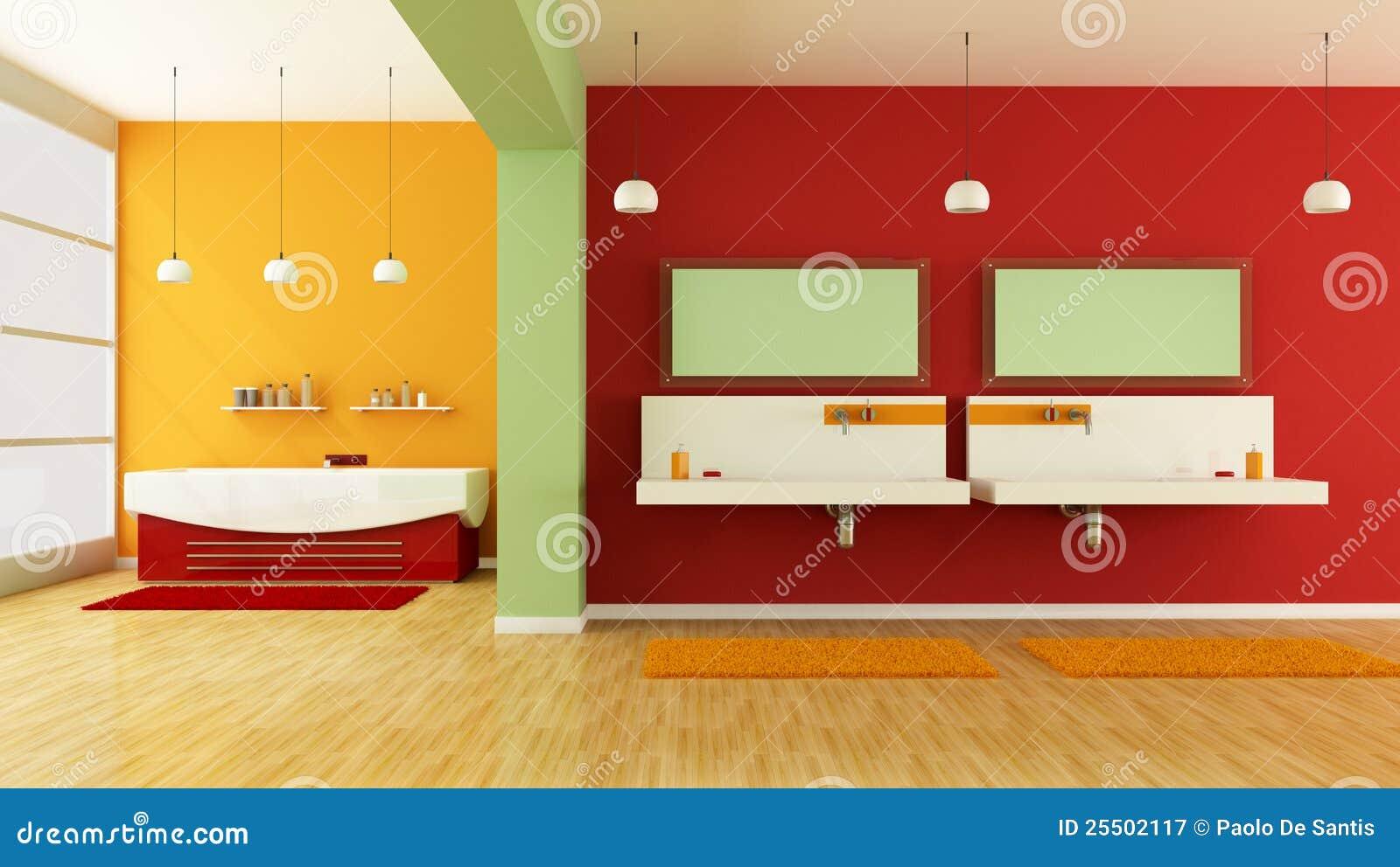 Kleurrijke badkamers stock illustratie. Illustratie bestaande uit ...