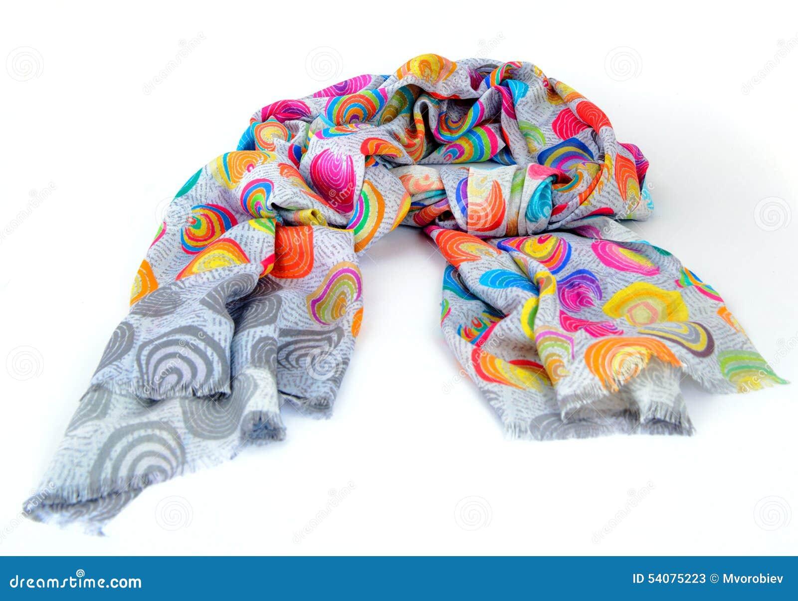 Kleurrijke bont Indische geïsoleerde sjaal