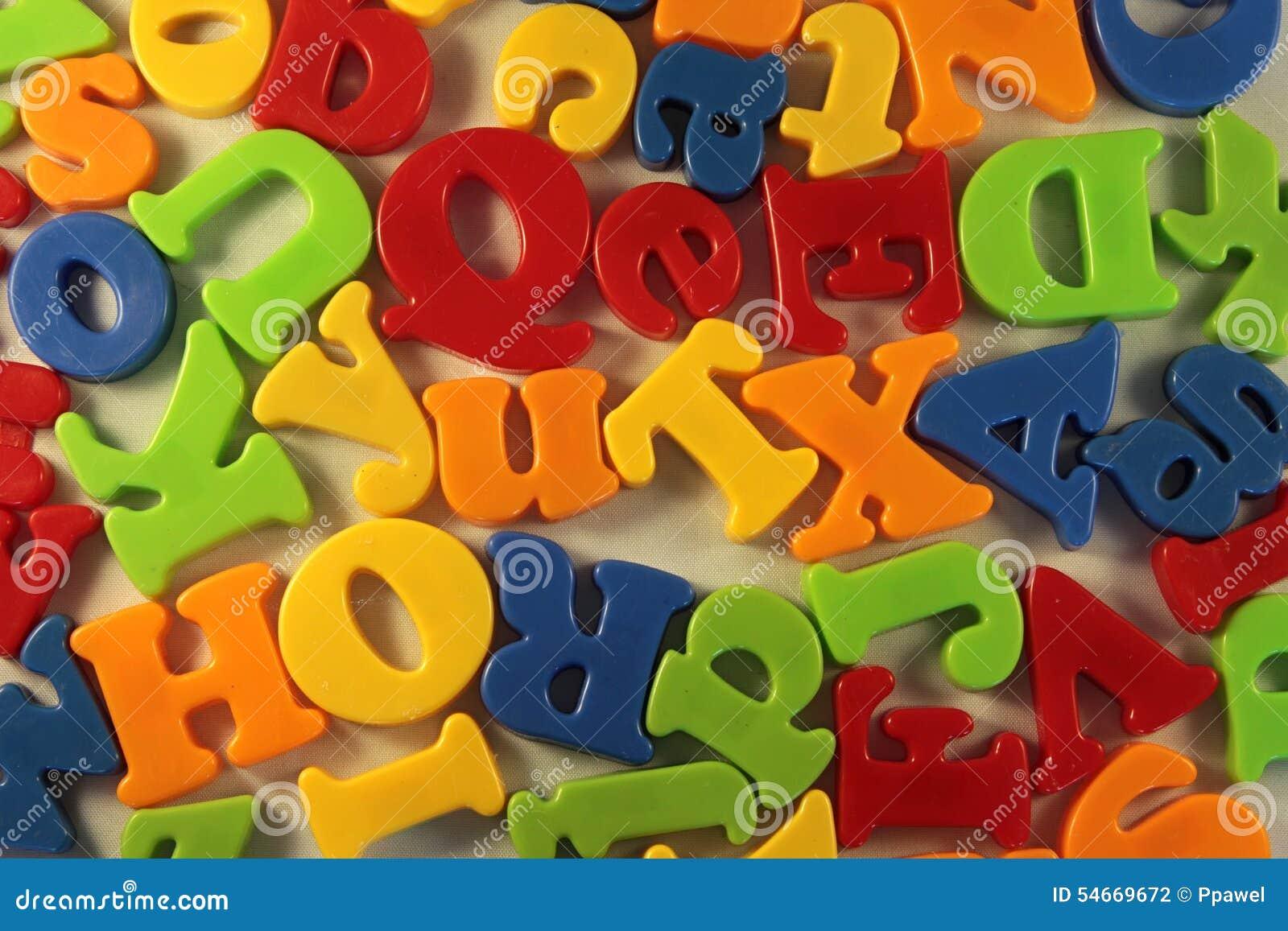 Kleurrijke brieven