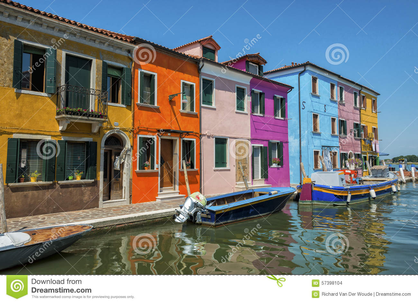 Kleurrijke Burano, Italië