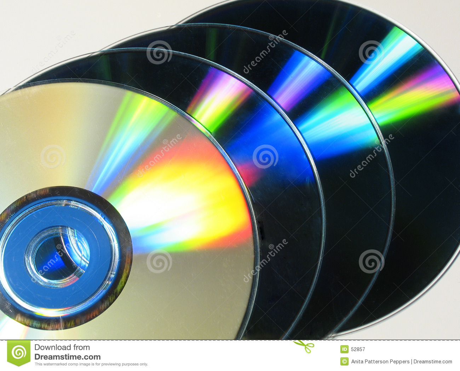 Kleurrijke cds