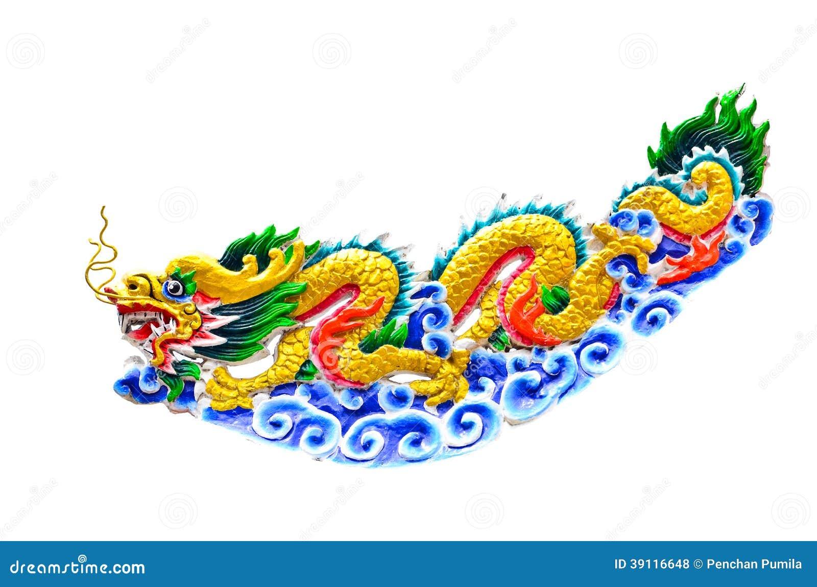 Kleurrijke Chinese draak