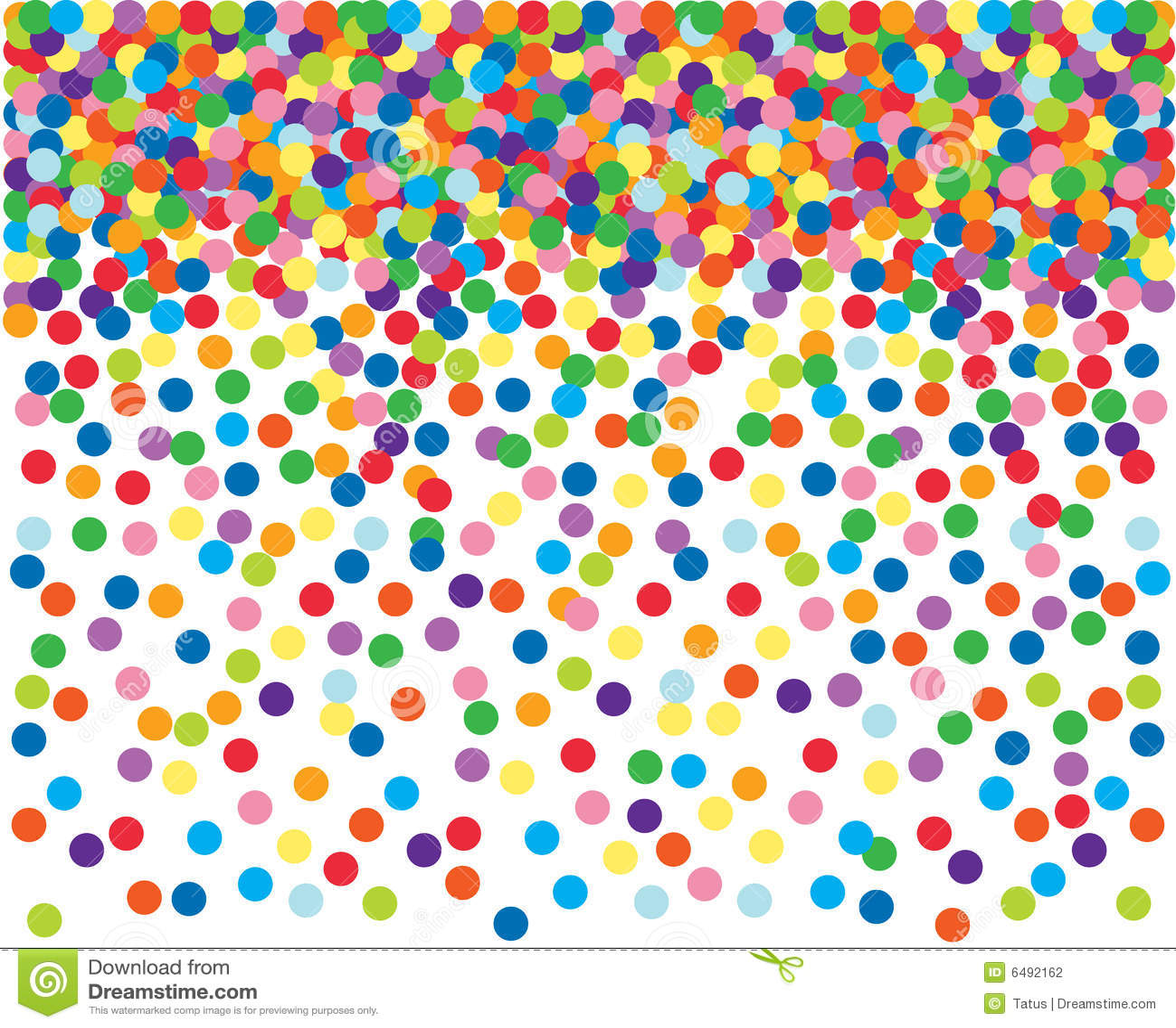 Kleurrijke confettienachtergrond.