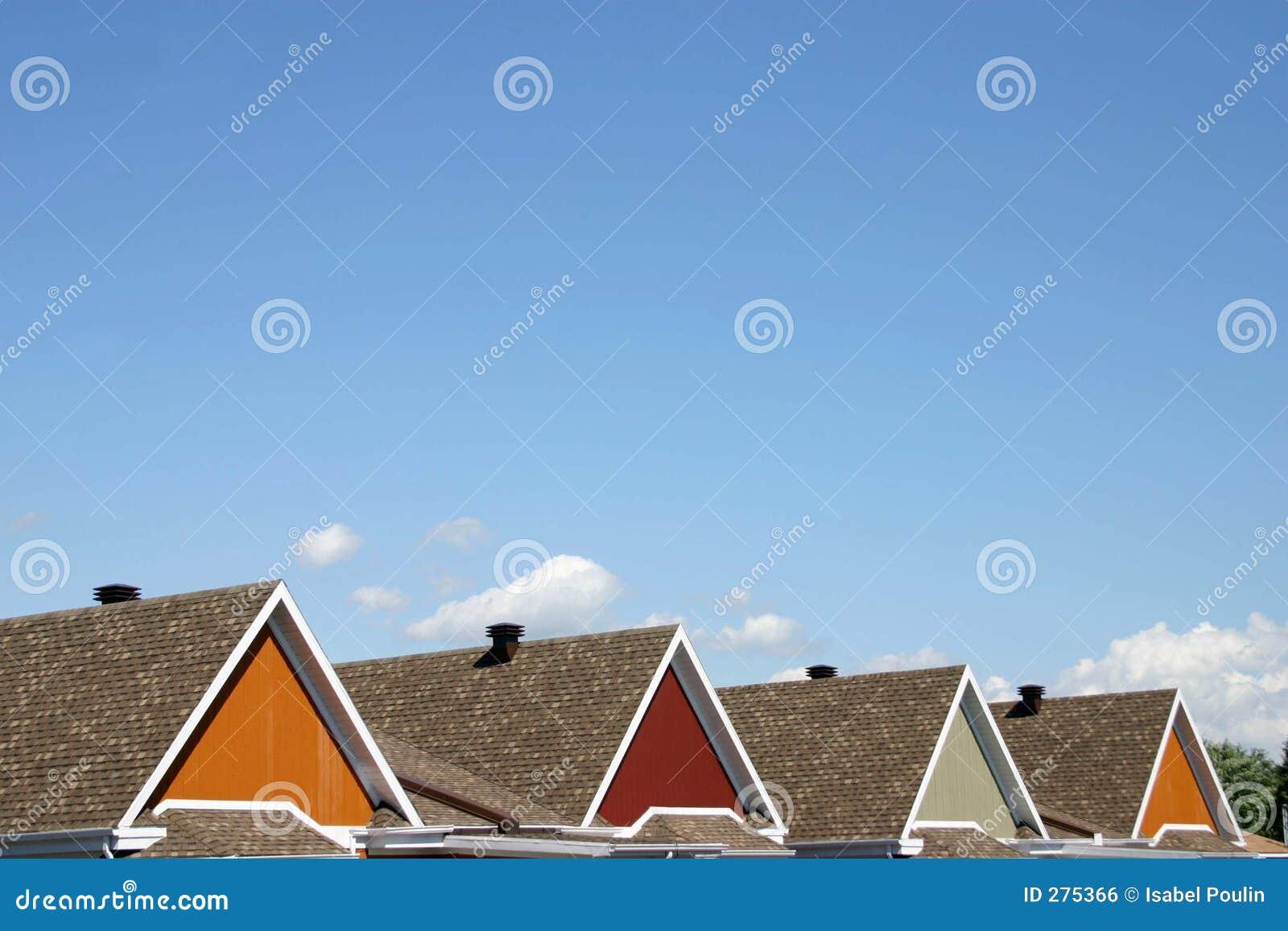 Kleurrijke daken