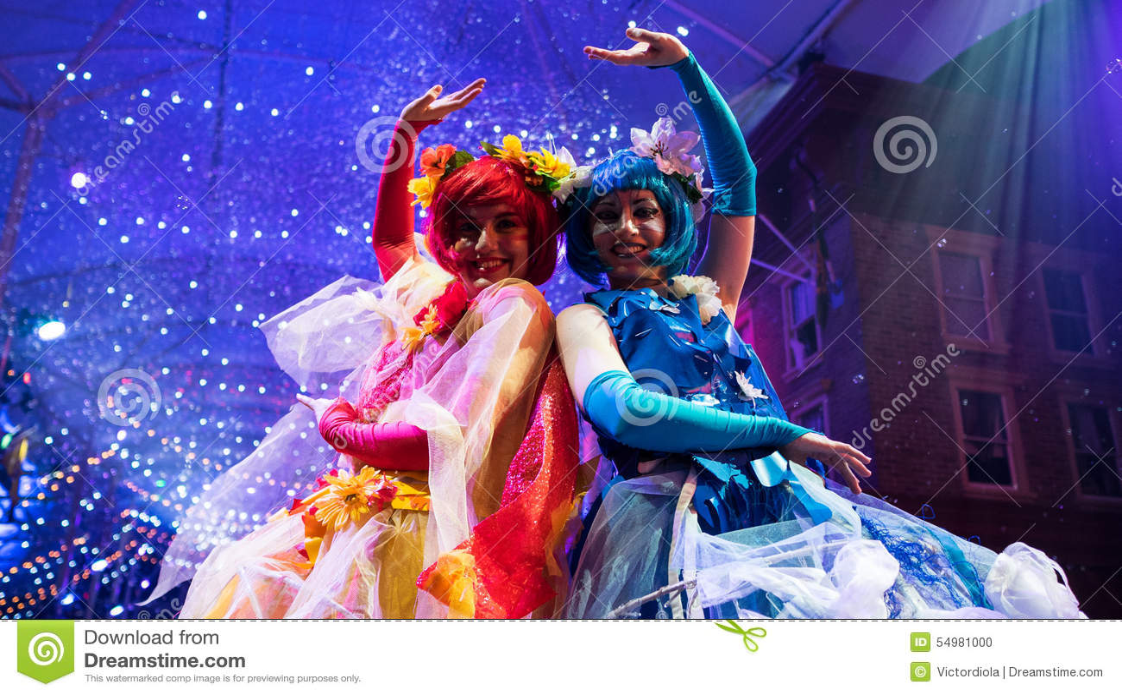 Kleurrijke en mooie Carnaval-uitvoerders