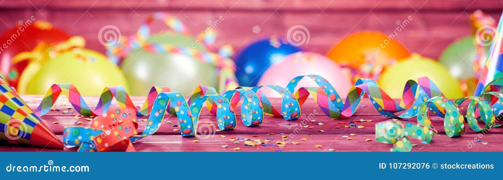 Kleurrijke feestelijke partij of Carnaval-banner
