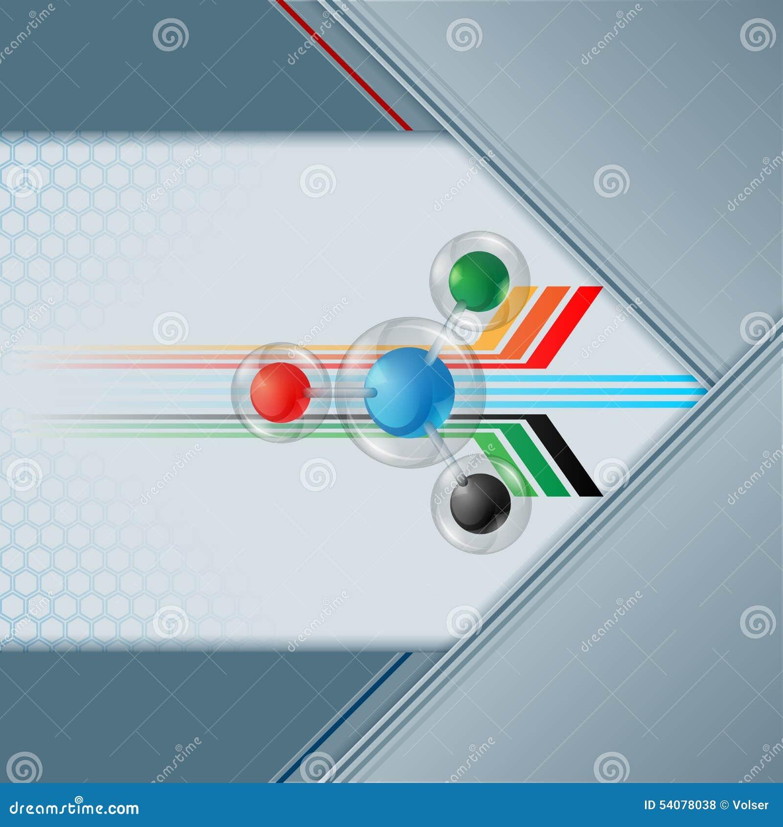 Kleurrijke gebieden in het gebied van de glasknoop op geometrisch lineair ontwerp