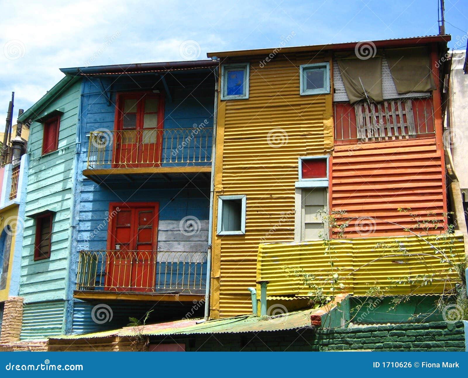 Kleurrijke Gebouwen in La Boca, Buenos aires