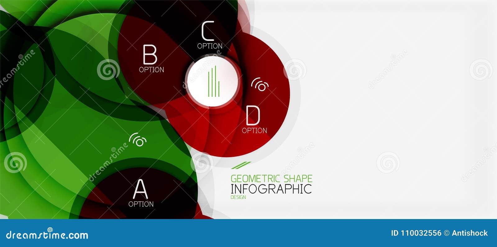 Kleurrijke geometrische cirkel moderne abstracte achtergrond