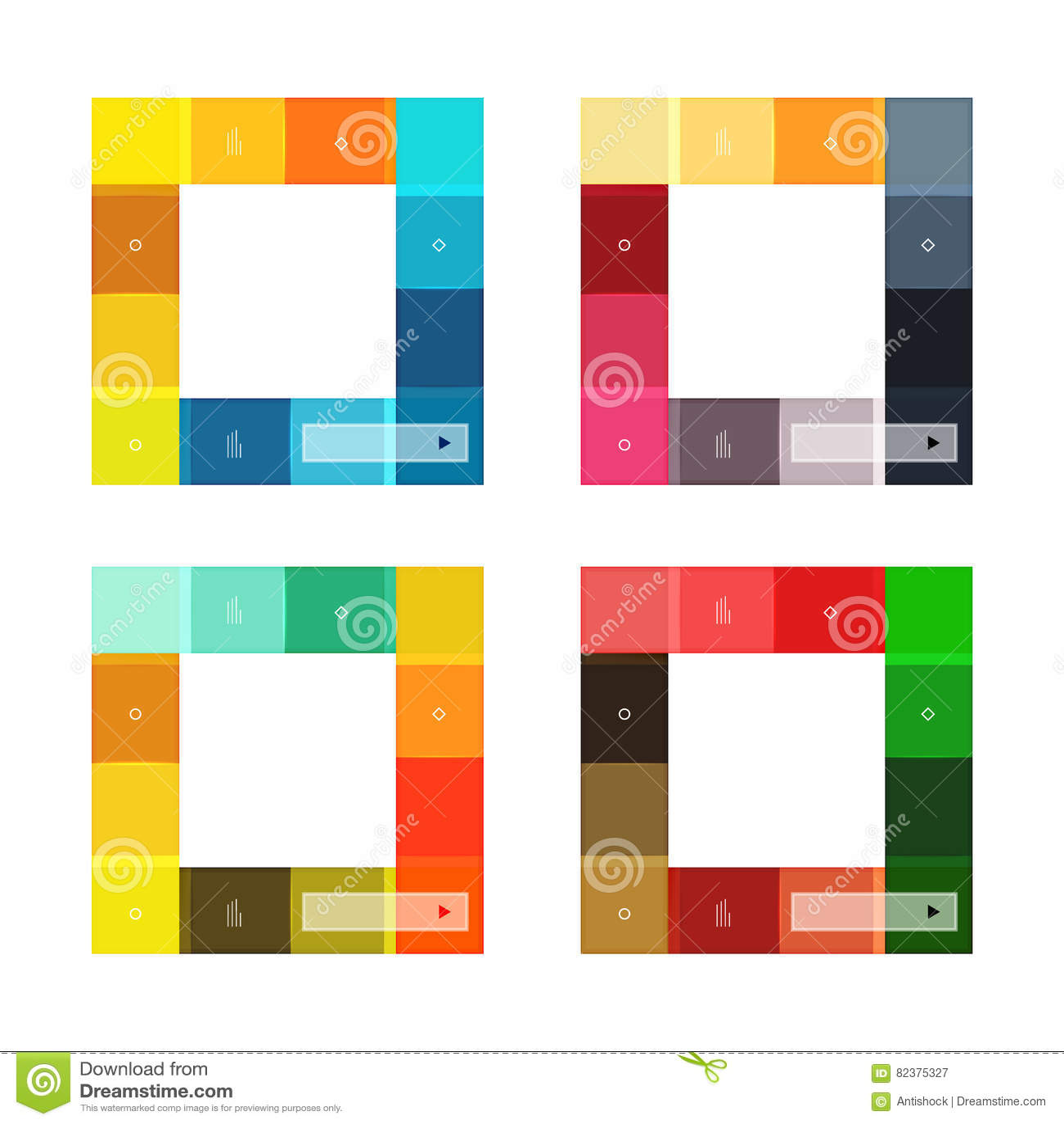 Kleurrijke geplaatste strepen infographic malplaatjes