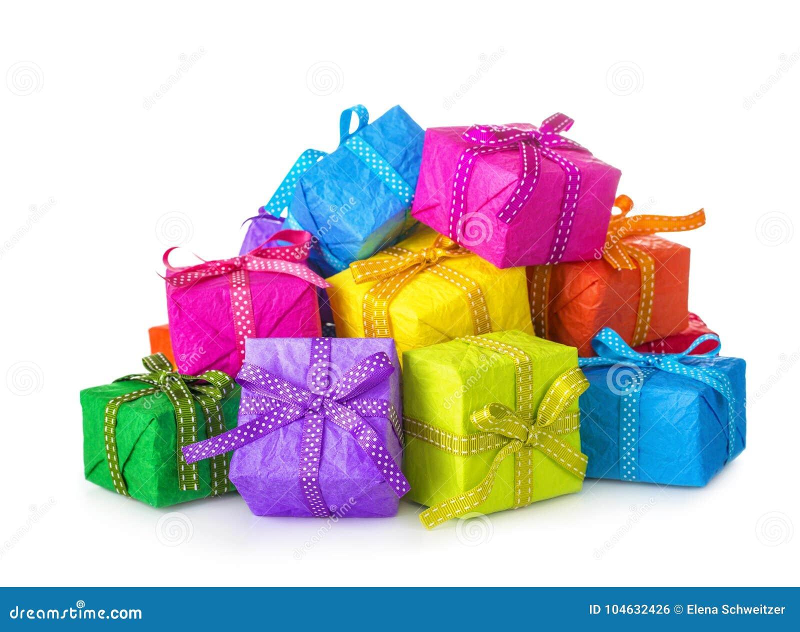Download Kleurrijke giftdozen stock foto. Afbeelding bestaande uit geel - 104632426