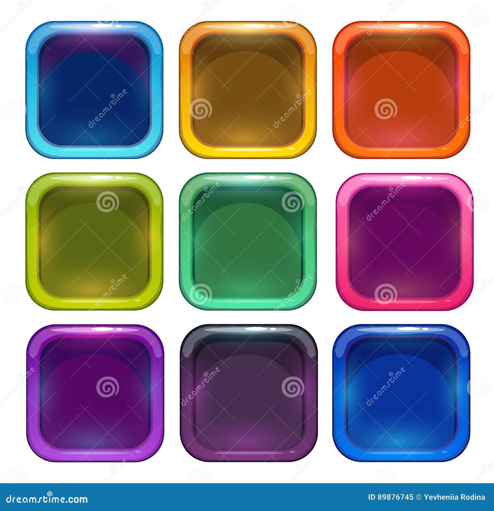 Kleurrijke glanzende app pictogramkaders
