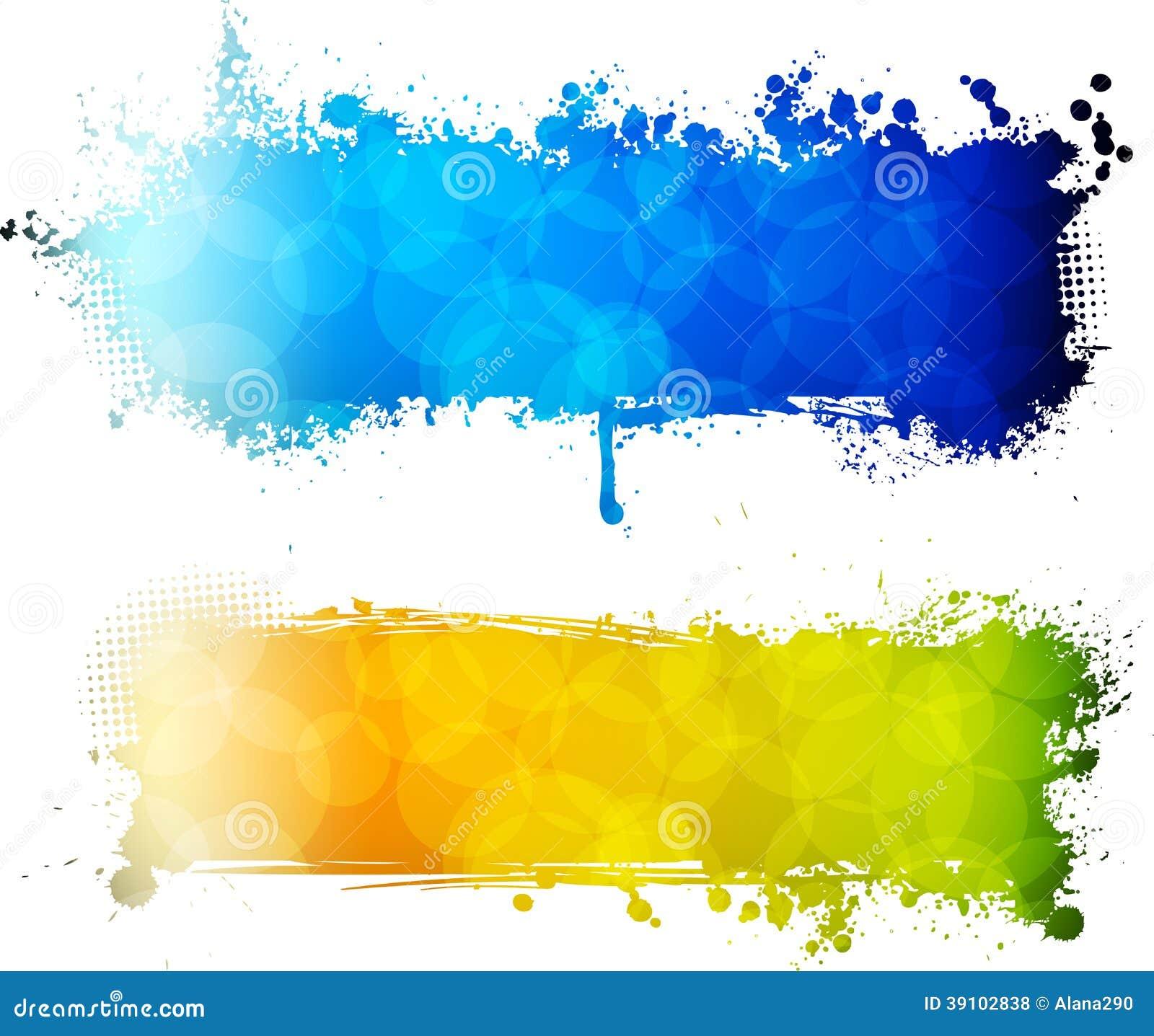 Kleurrijke grunge twee banners